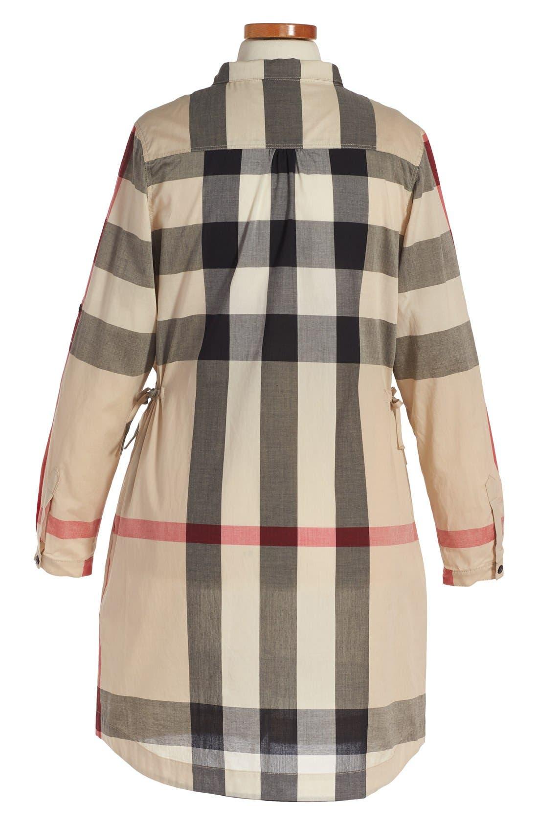 'Darielle' Check Print Dress,                             Alternate thumbnail 2, color,                             272