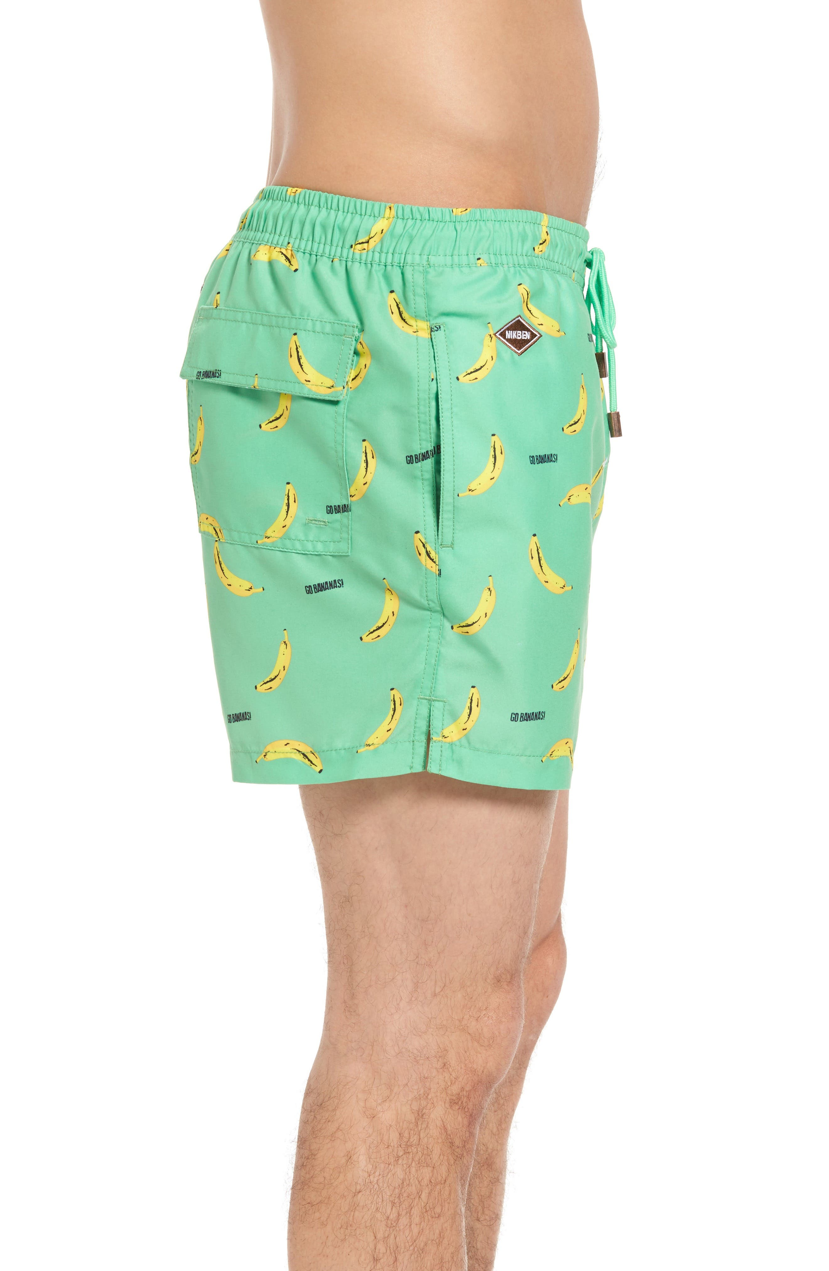Go Bananas Swim Trunks,                             Alternate thumbnail 3, color,                             300