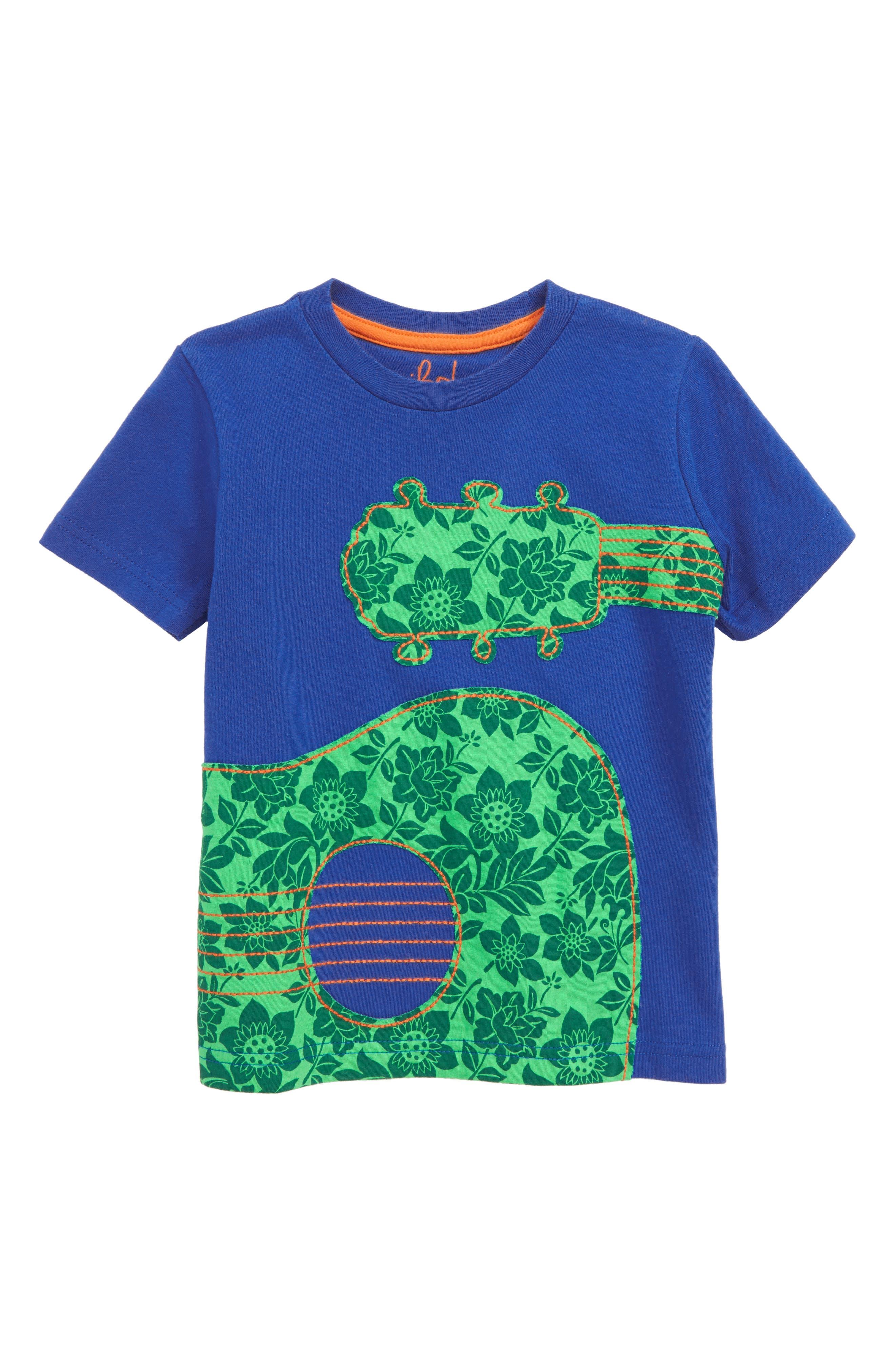Guitar Appliqué T-Shirt,                         Main,                         color, 404