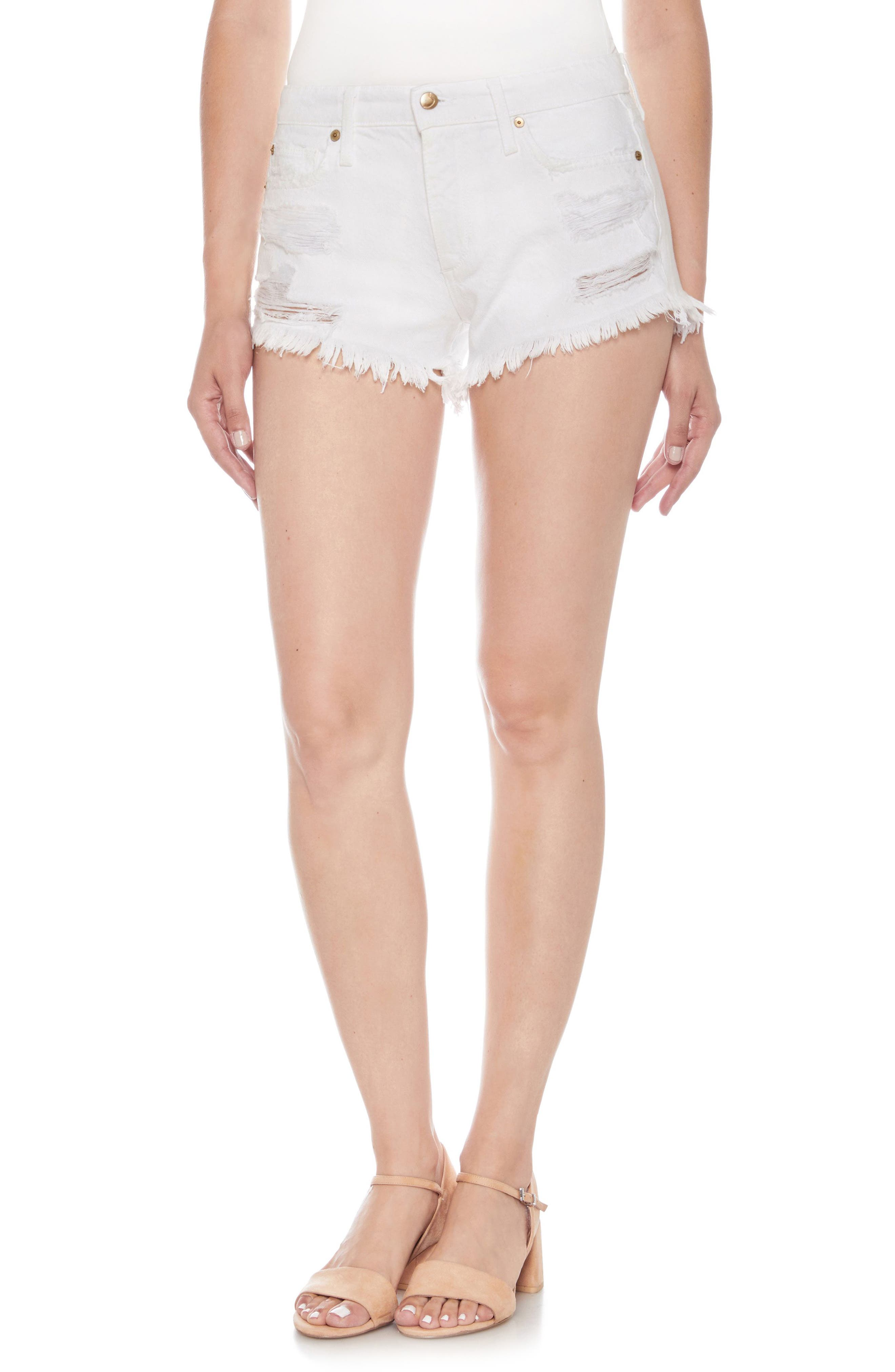 Cutoff Denim Shorts,                         Main,                         color, CORDELIA