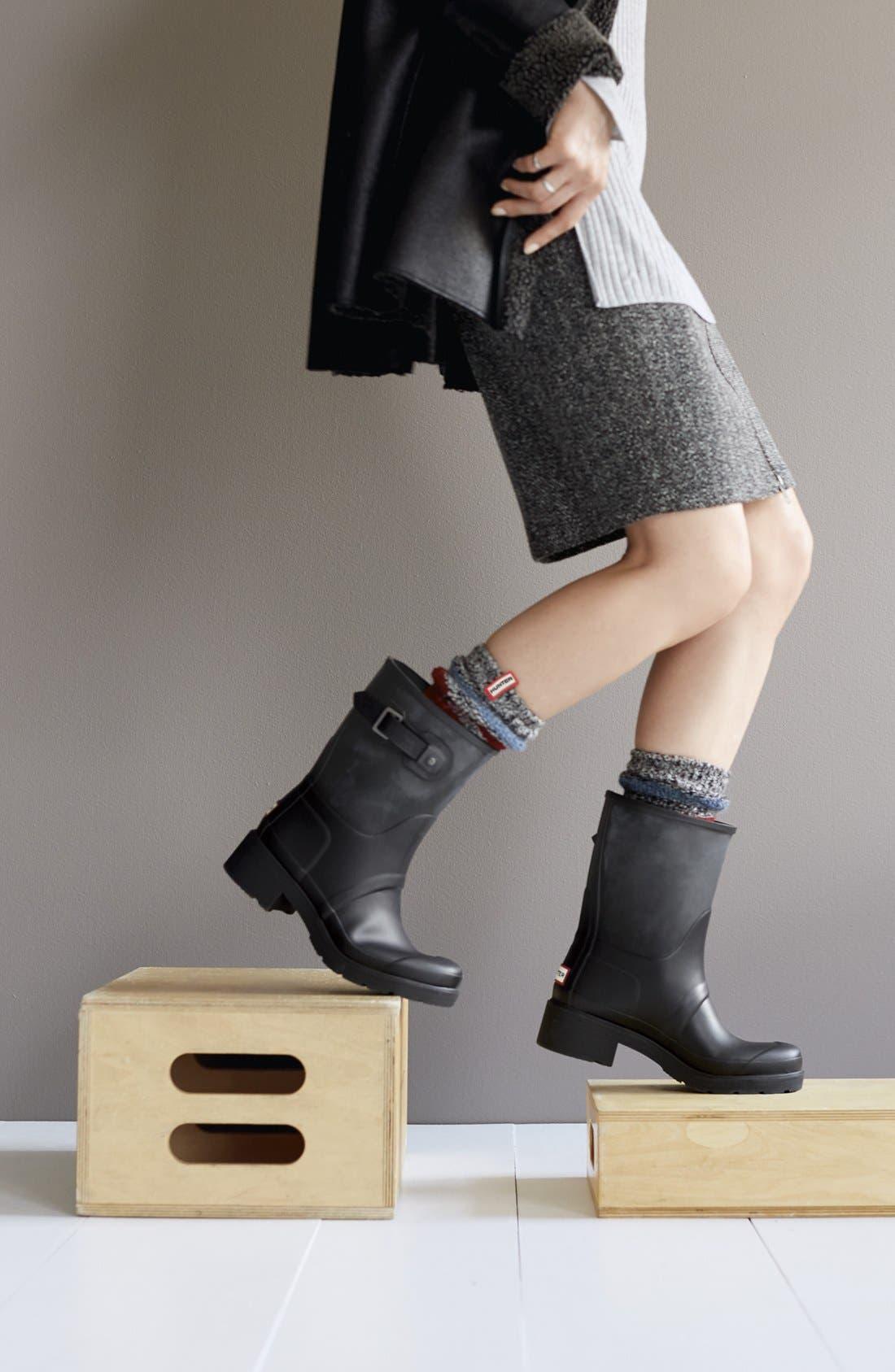 'Original' Waterproof Ankle Rain Boot,                             Alternate thumbnail 5, color,                             001