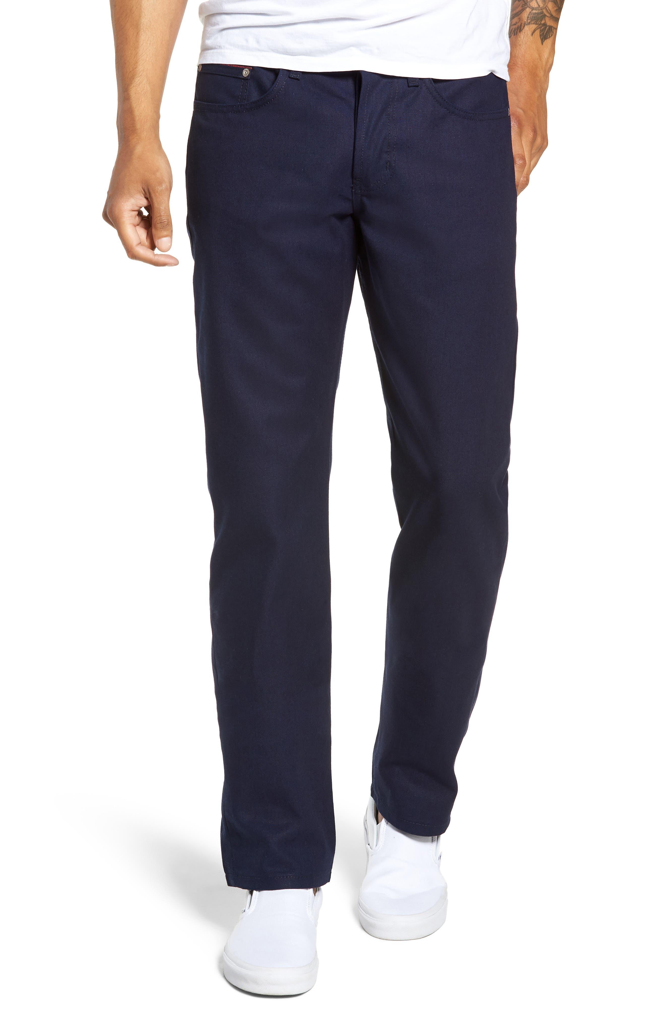 Weird Guy Slim Fit Jeans,                             Main thumbnail 1, color,                             INDIGO DUCK CANVAS SELVEDGE