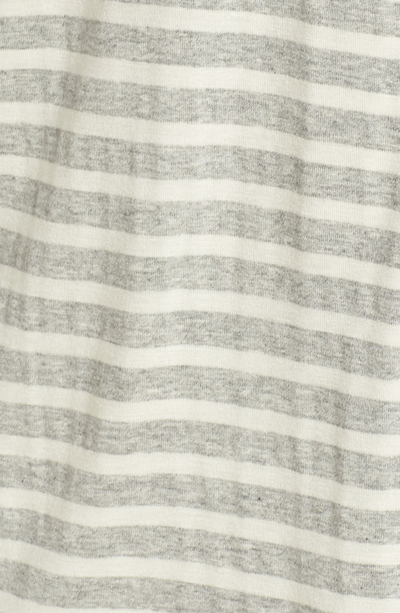 Monaco Short Pajamas,                             Alternate thumbnail 5, color,                             GREY STRIPE
