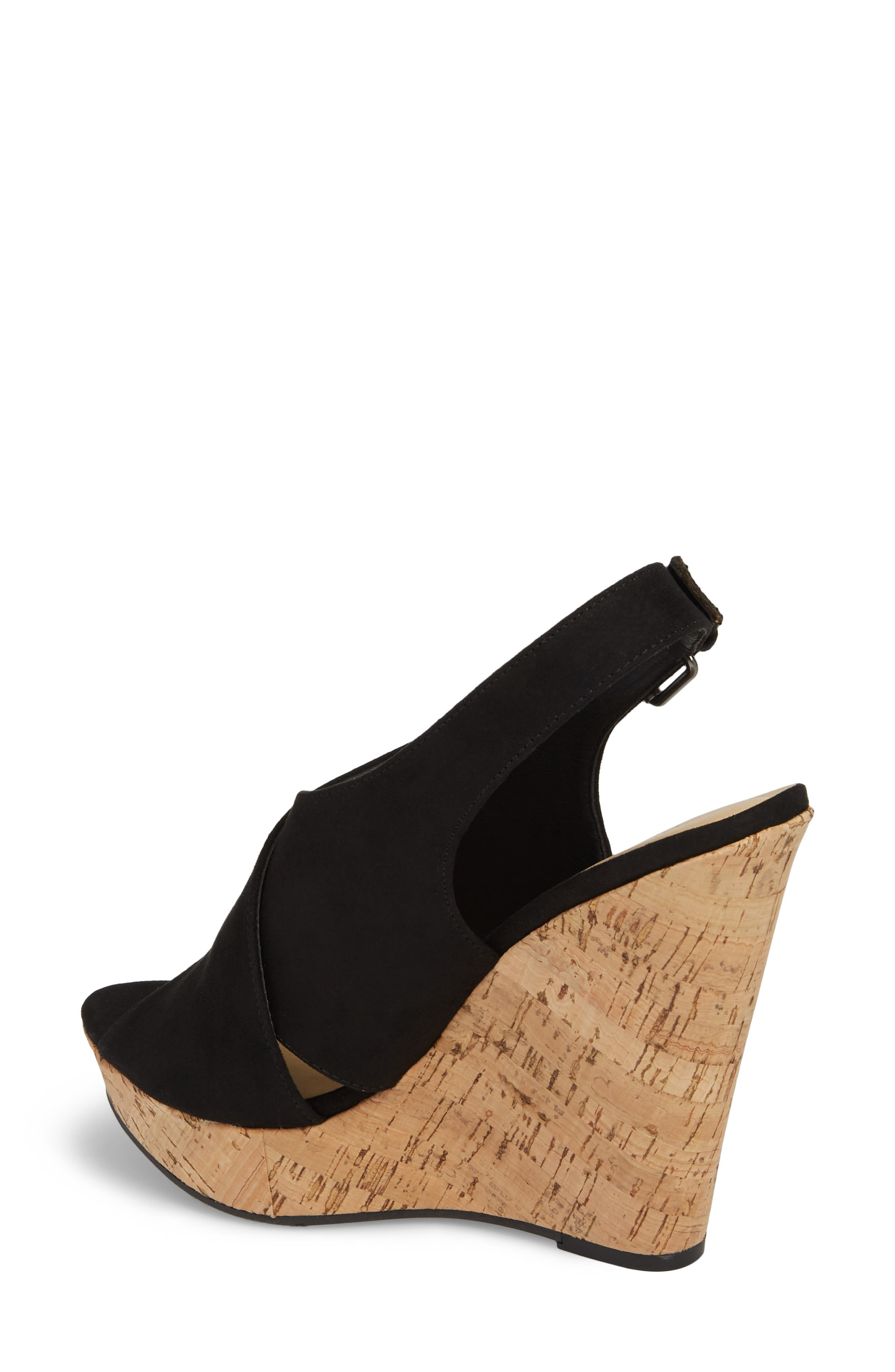 Myya Slingback Wedge Sandal,                             Alternate thumbnail 2, color,                             BLACK