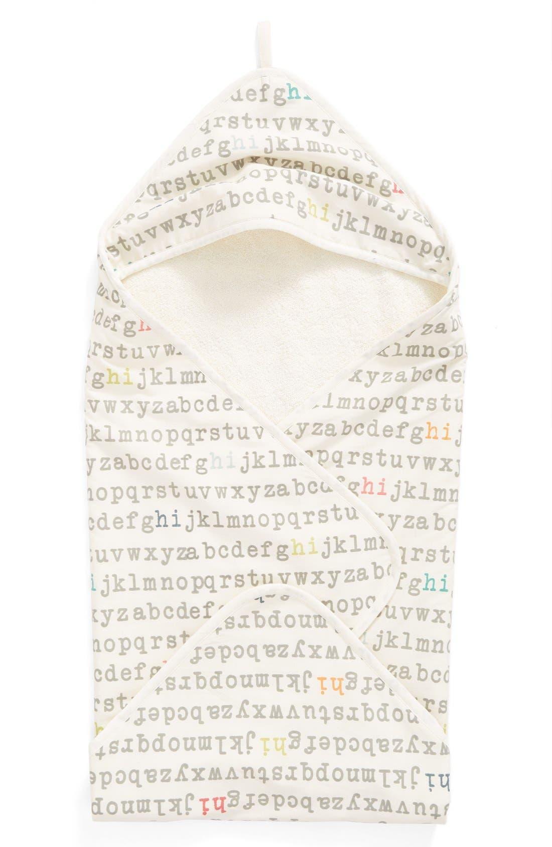 'Alphabet' Print Hooded Towel,                         Main,                         color,