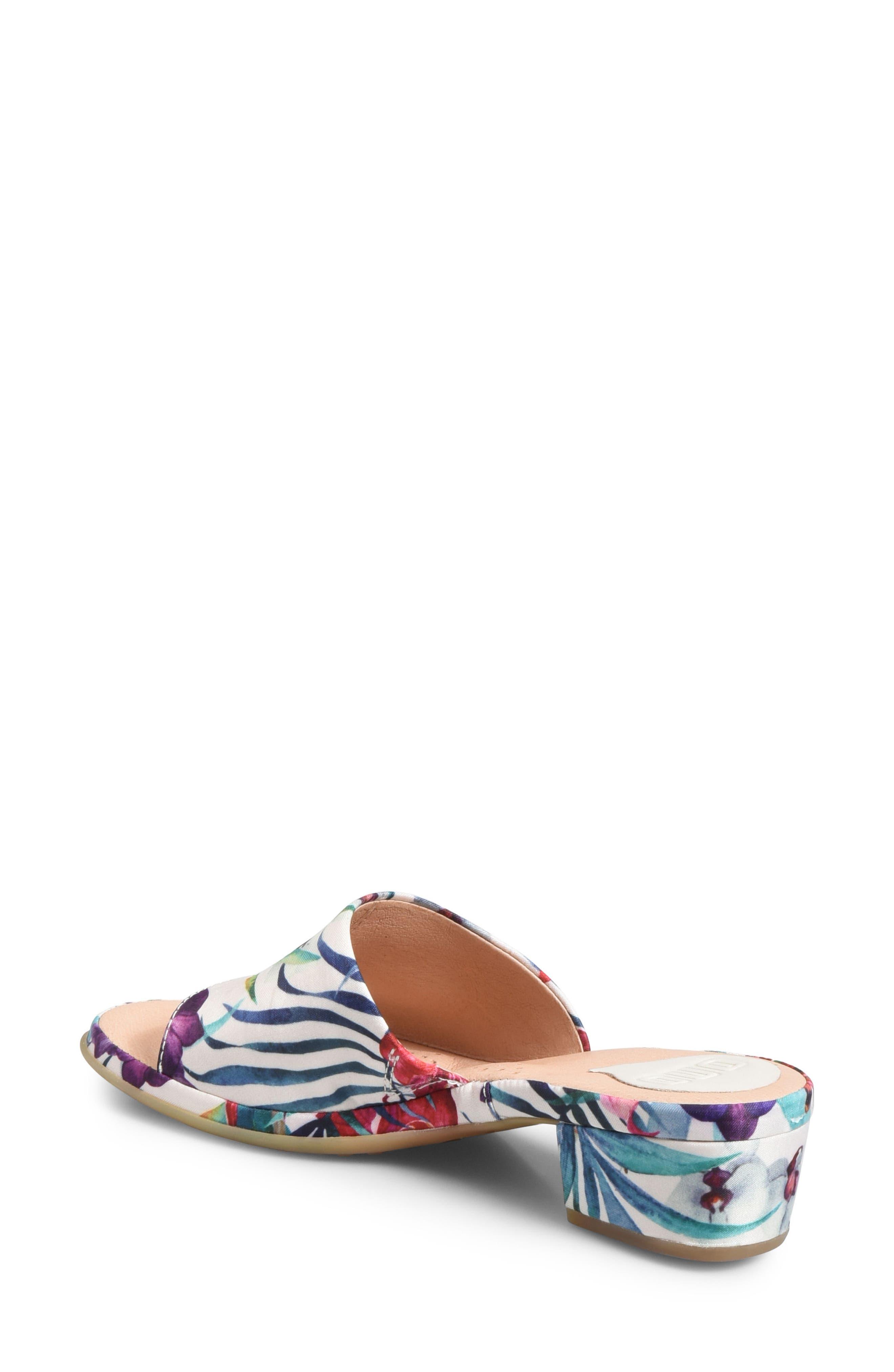Bo Block Heel Slide Sandal,                             Alternate thumbnail 2, color,                             WHITE FABRIC
