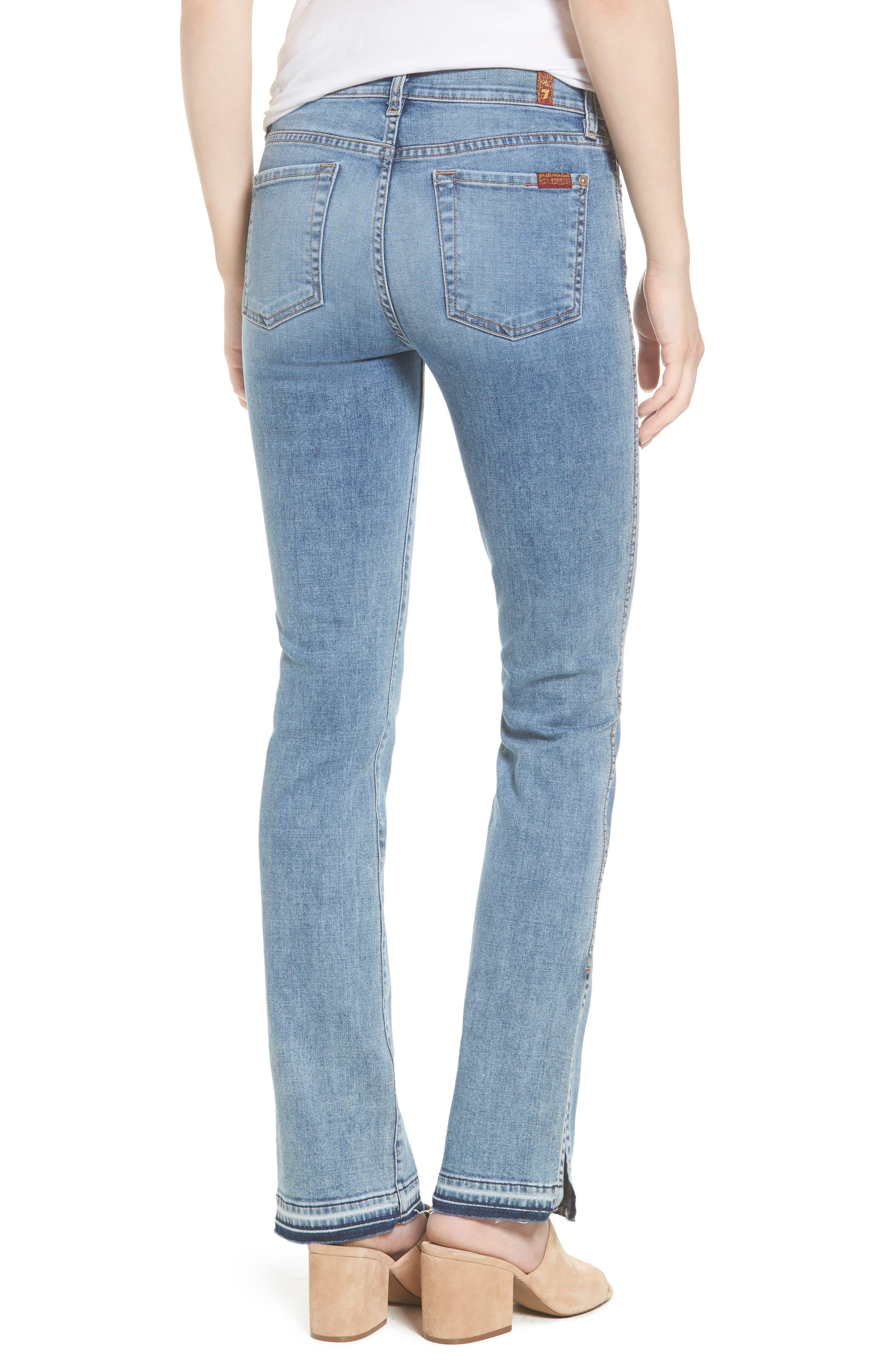 Dylan Split Hem Straight Leg Jeans,                             Alternate thumbnail 2, color,                             400