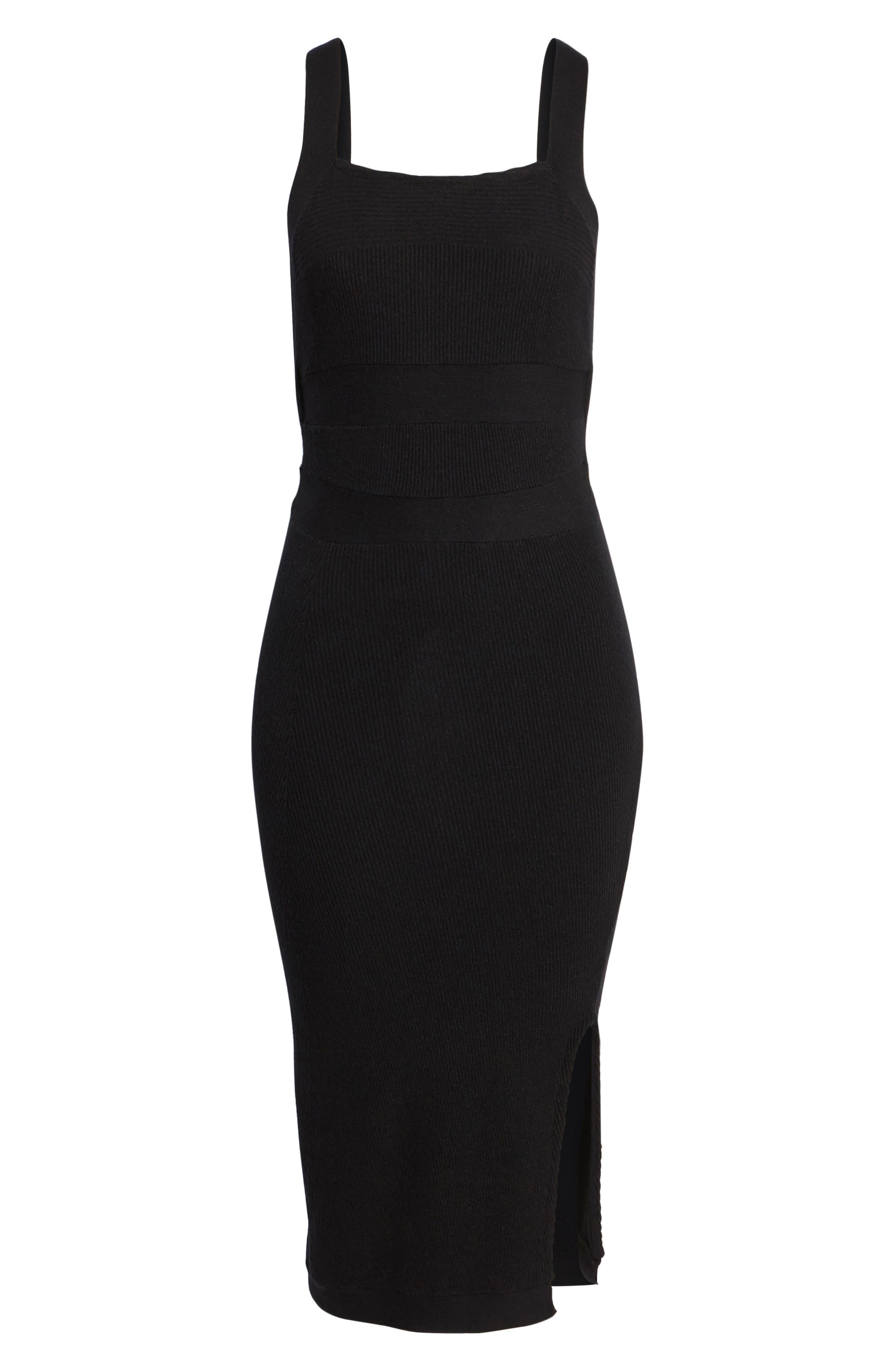 Midi Body-Con Dress,                             Alternate thumbnail 7, color,                             001