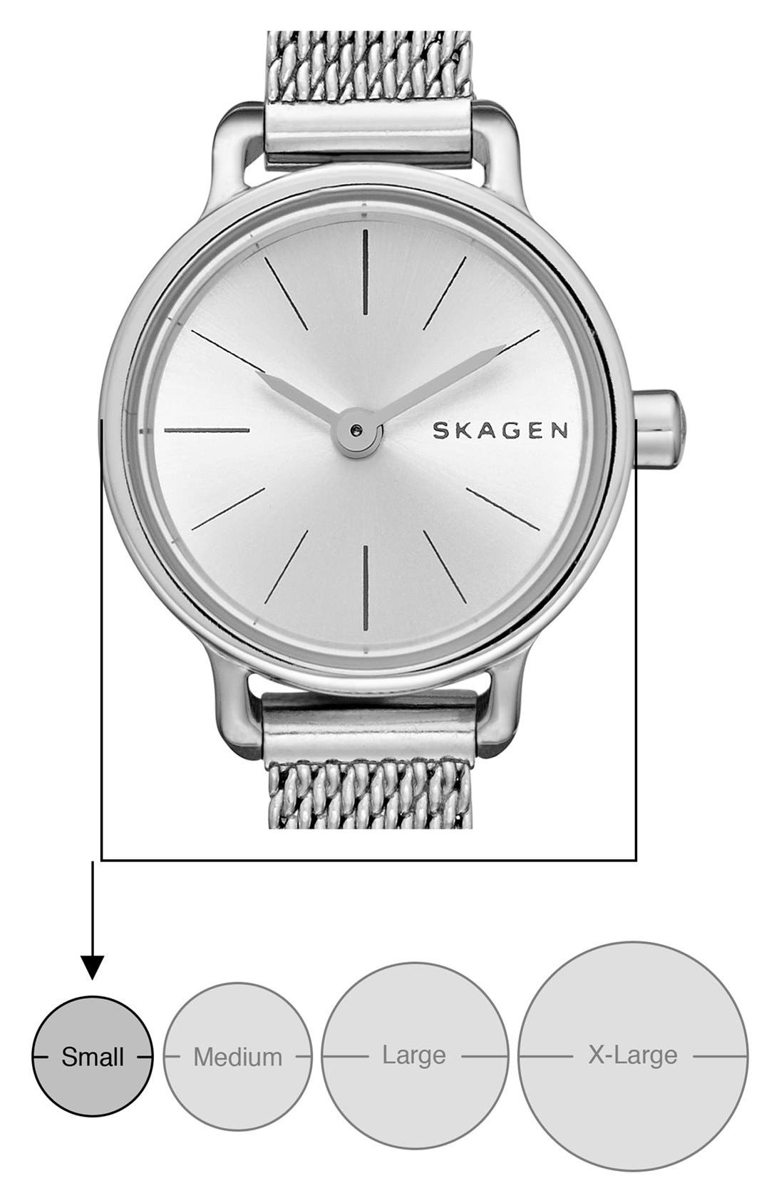 'Hagen' Mesh Strap Watch, 20mm,                             Alternate thumbnail 3, color,                             040