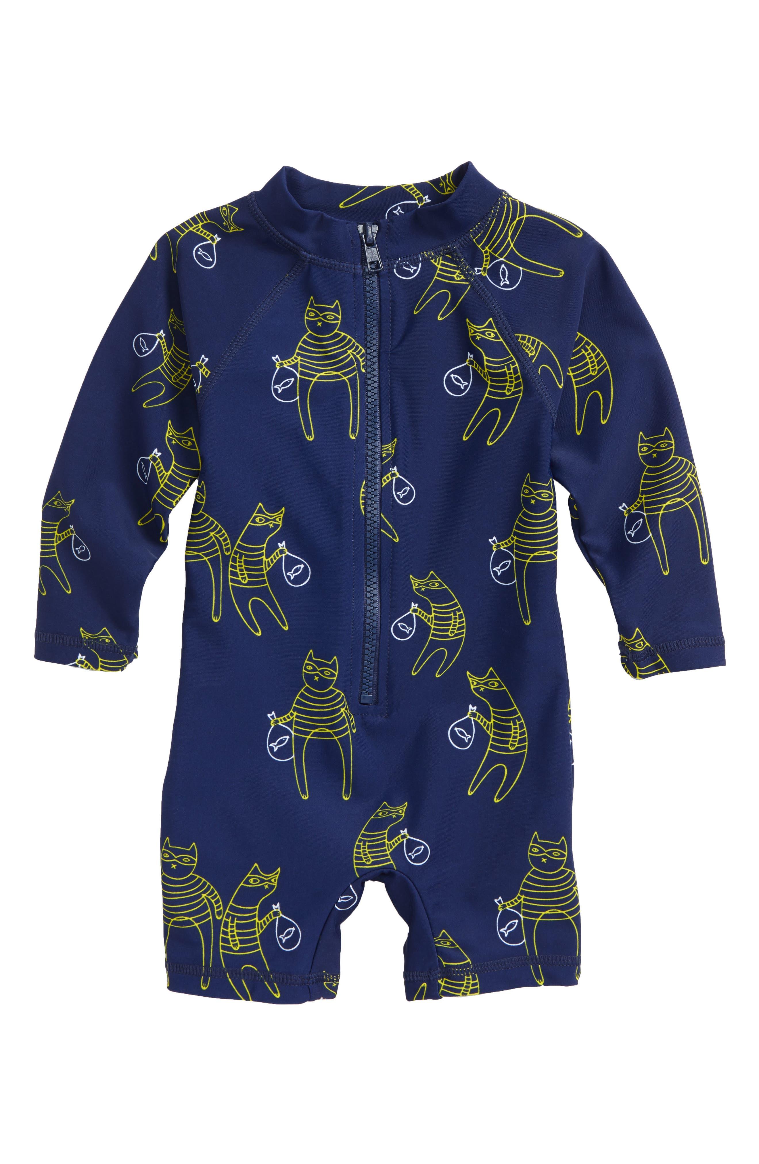 Cat Bandit One-Piece Rashgaurd Swimsuit,                         Main,                         color, 415