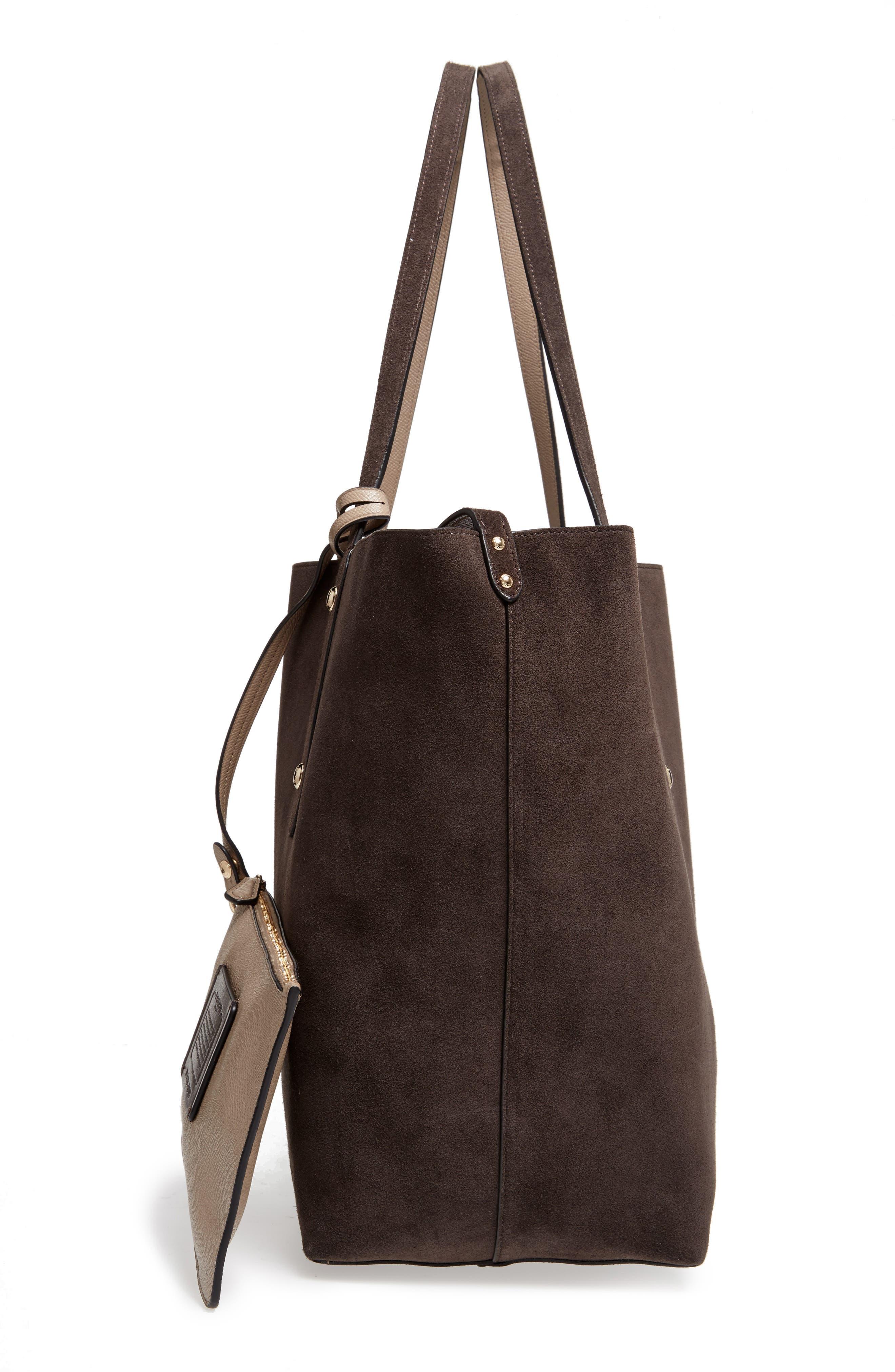 Large Market Reversible Leather Tote,                             Alternate thumbnail 25, color,