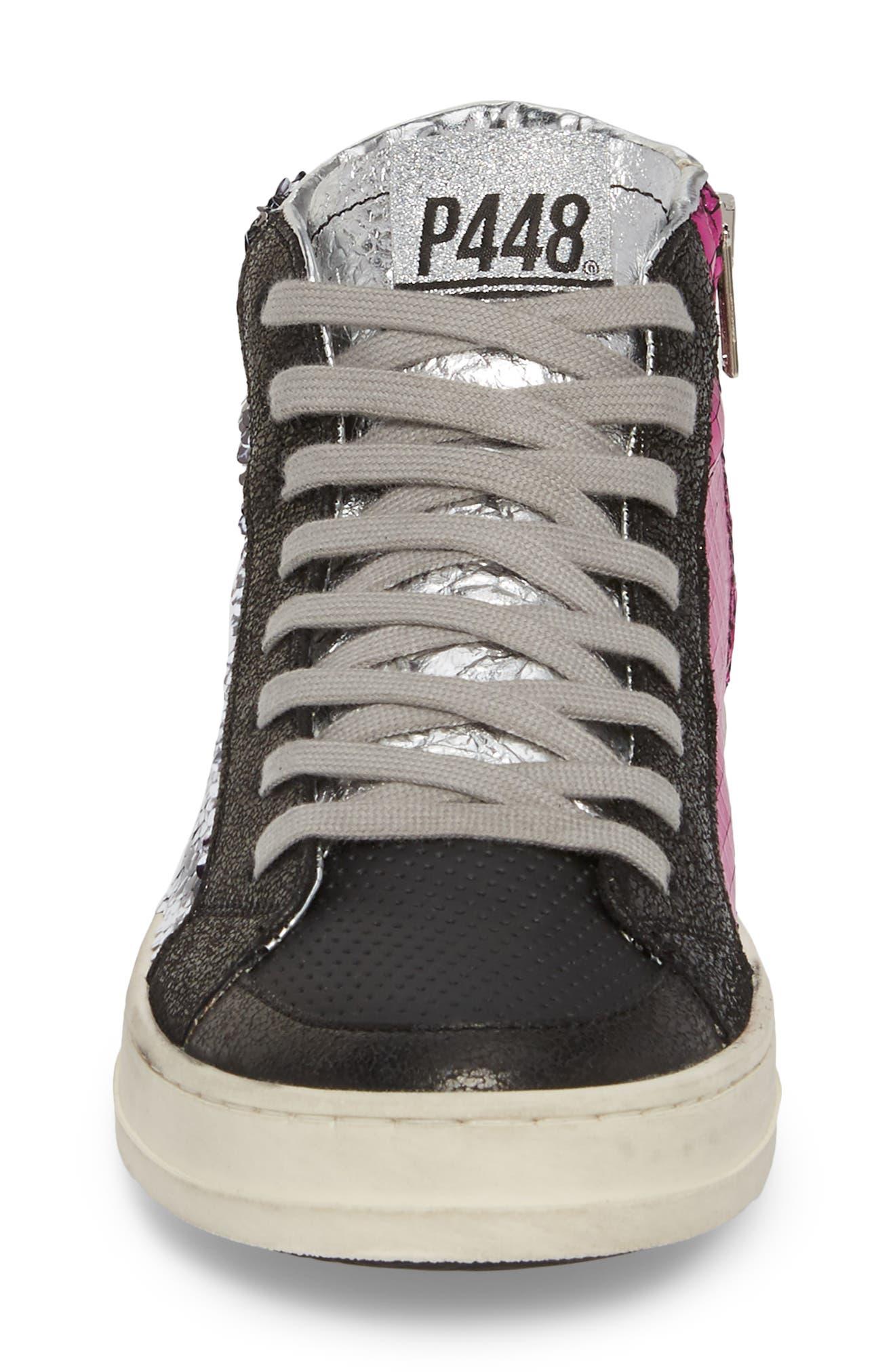 Skate Sequin High Top Sneaker,                             Alternate thumbnail 4, color,