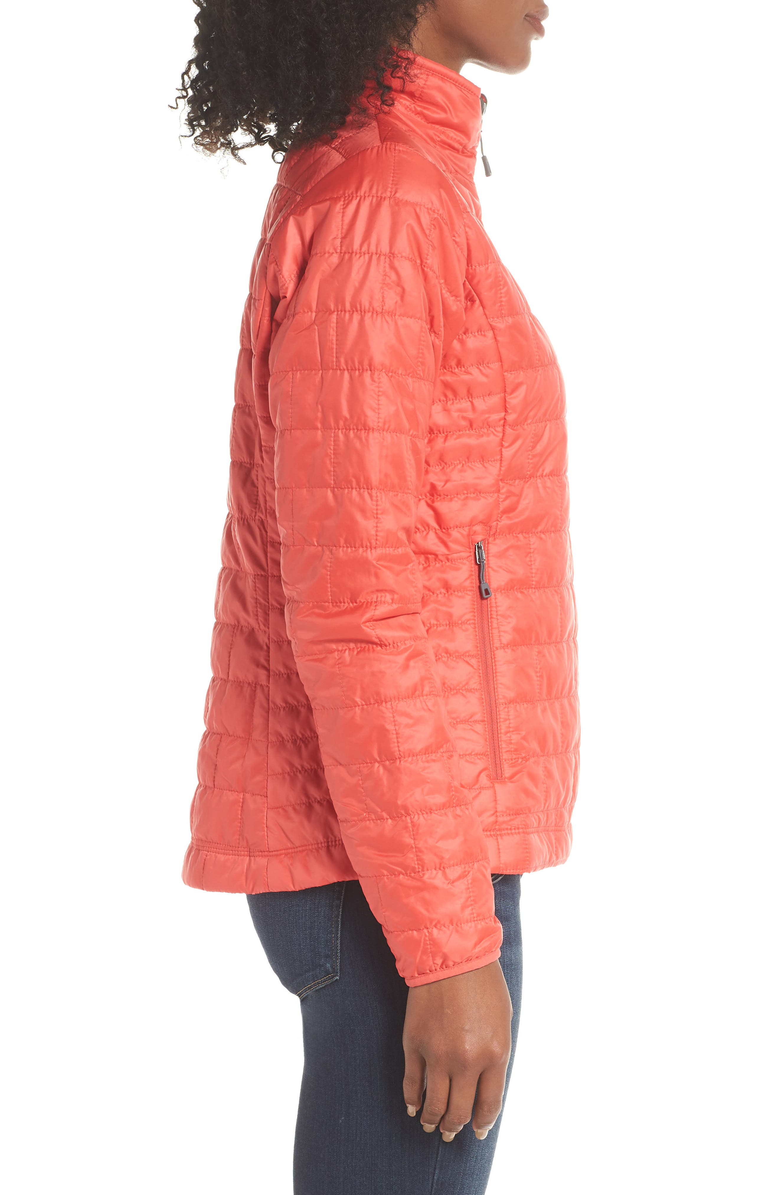 Nano Puff<sup>®</sup> Water Resistant Jacket,                             Alternate thumbnail 3, color,                             TOMATO