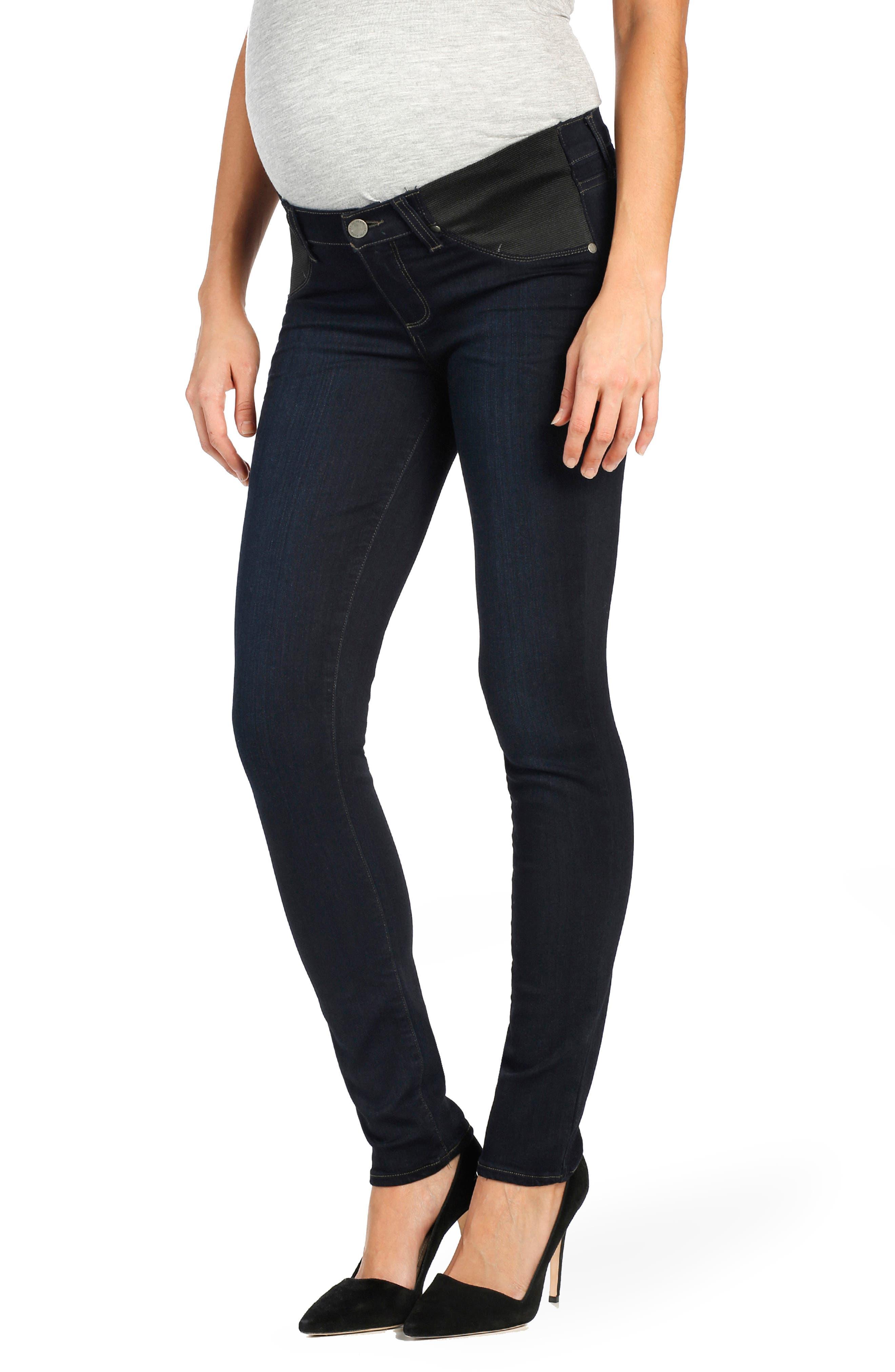 Transcend - Skyline Skinny Maternity Jeans,                         Main,                         color, MONA