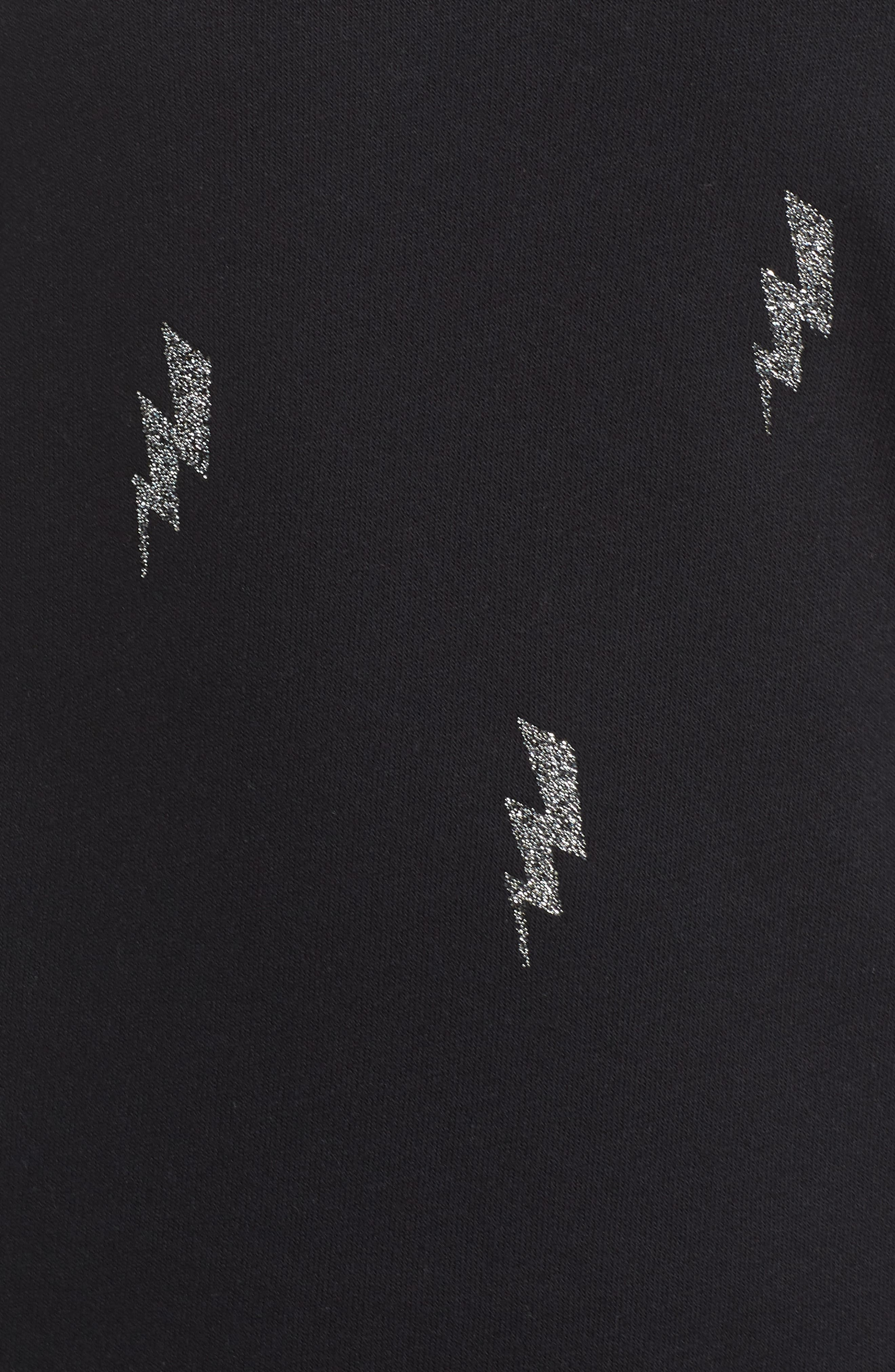 Swarovski Bolt Sweatshirt,                             Alternate thumbnail 6, color,                             001