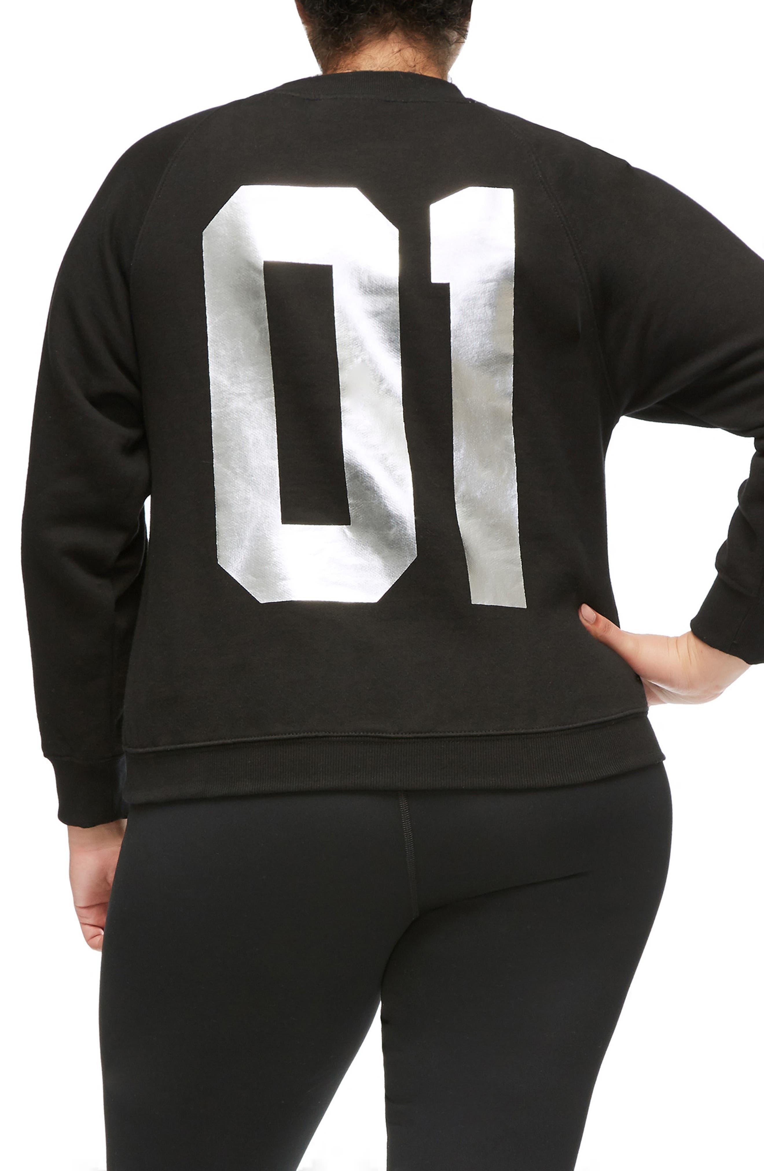 Goodies Varsity Sweatshirt,                             Alternate thumbnail 6, color,                             BLACK002