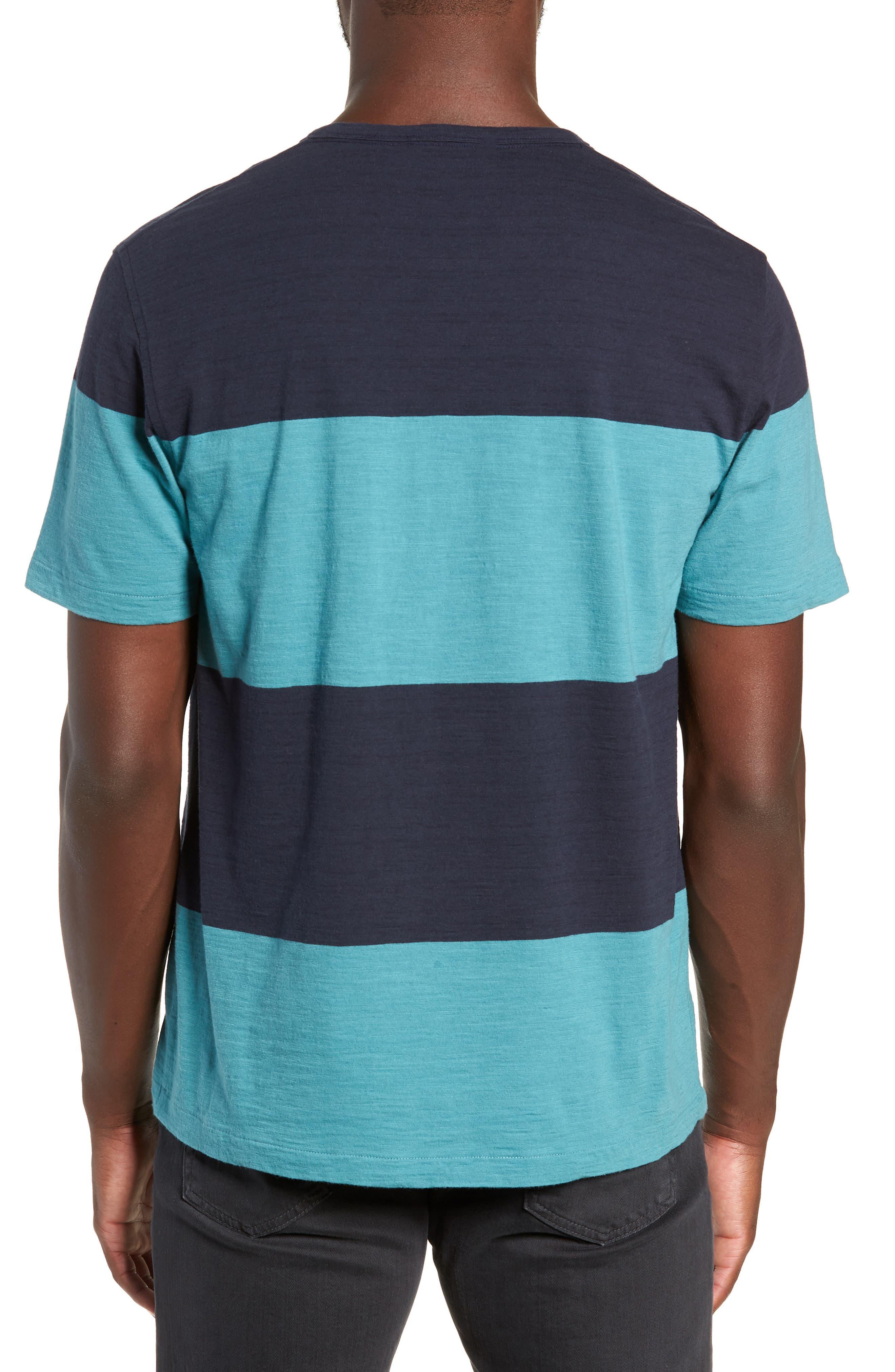 Colorblock Slubbed Pocket T-Shirt,                             Alternate thumbnail 2, color,                             NAVY/ BLUE