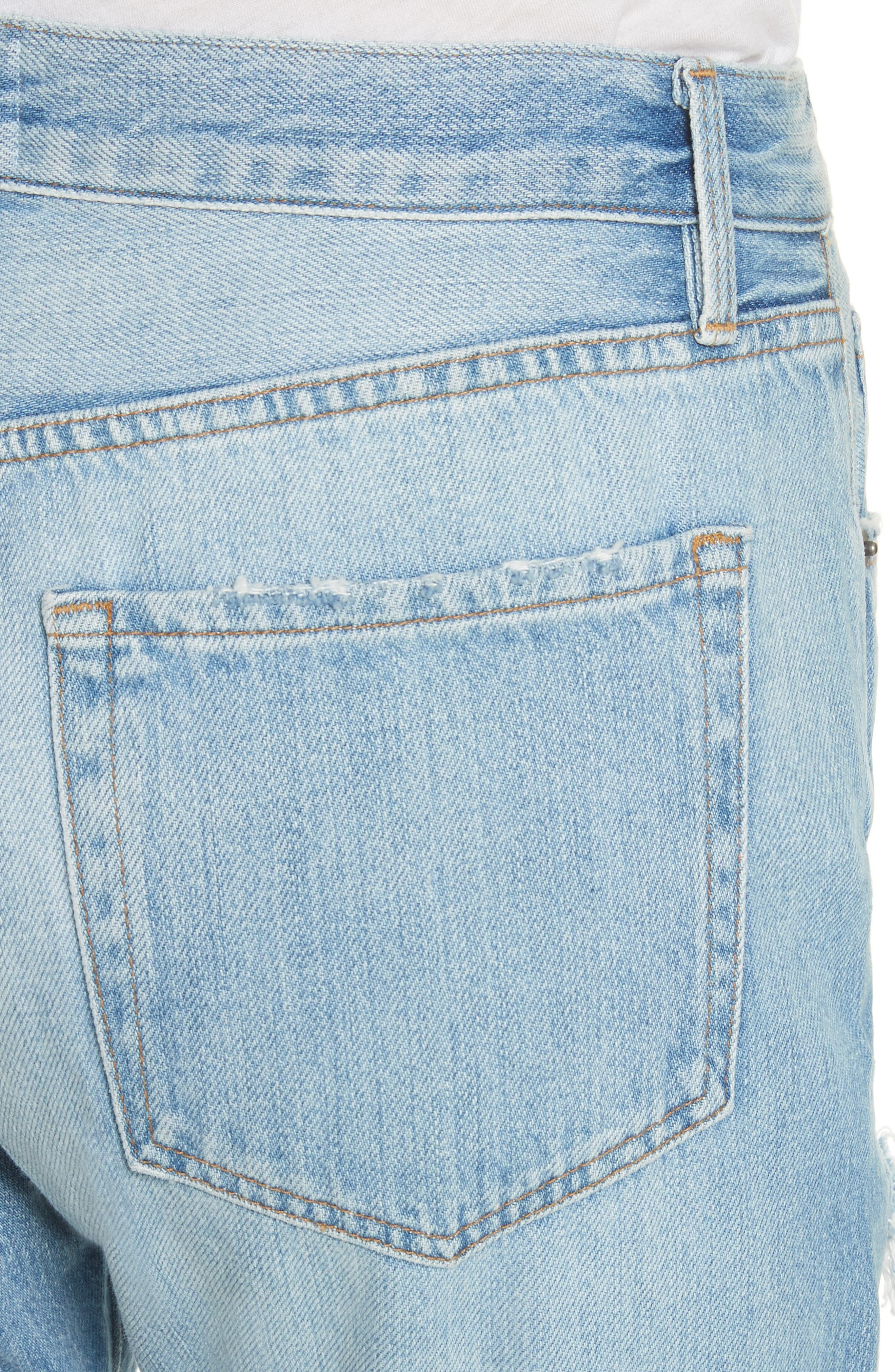 Le Original Ripped High Waist Skinny Jeans,                             Alternate thumbnail 4, color,                             POMDALE