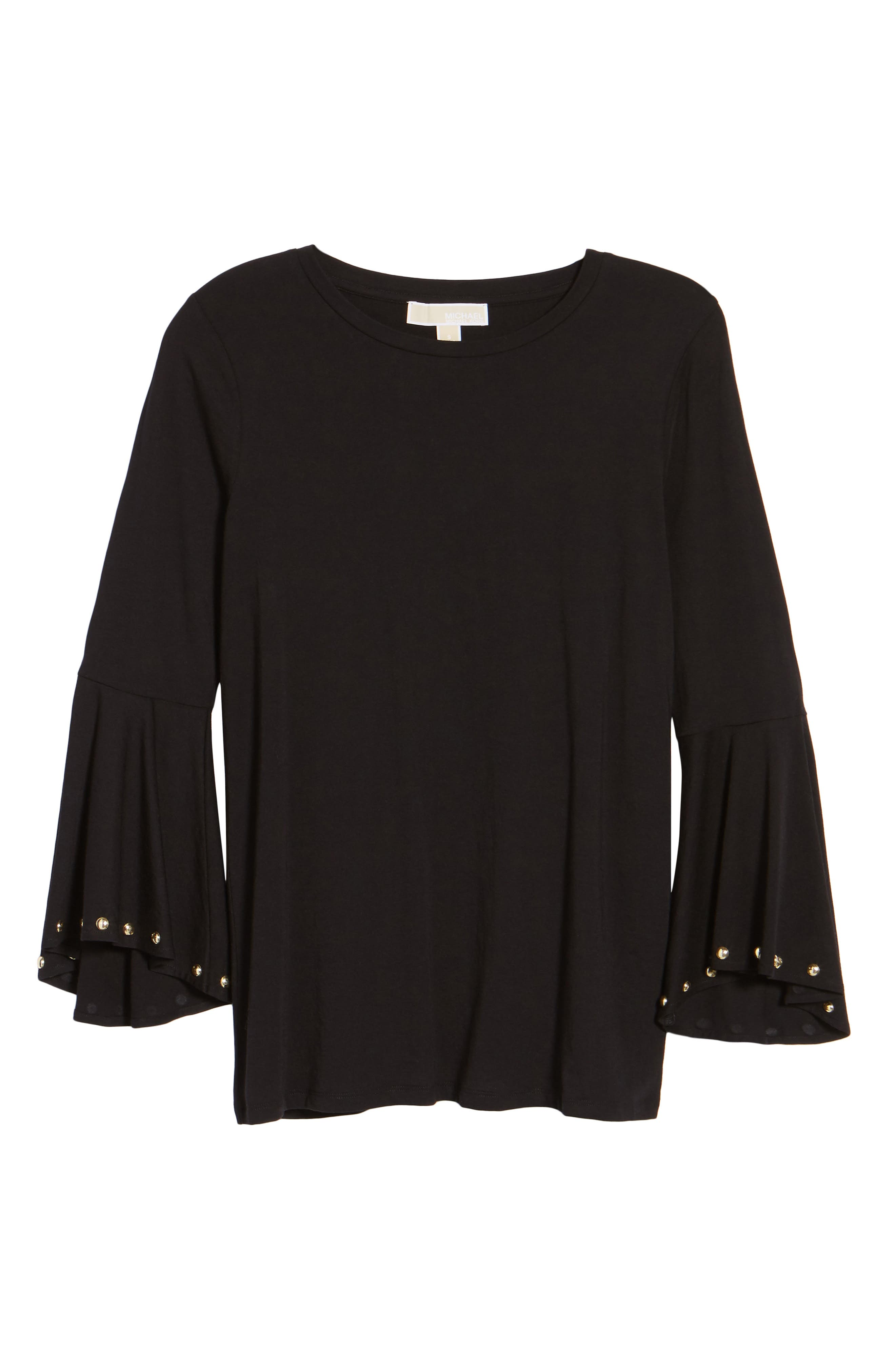 High/Low Bell Sleeve Top,                             Alternate thumbnail 16, color,