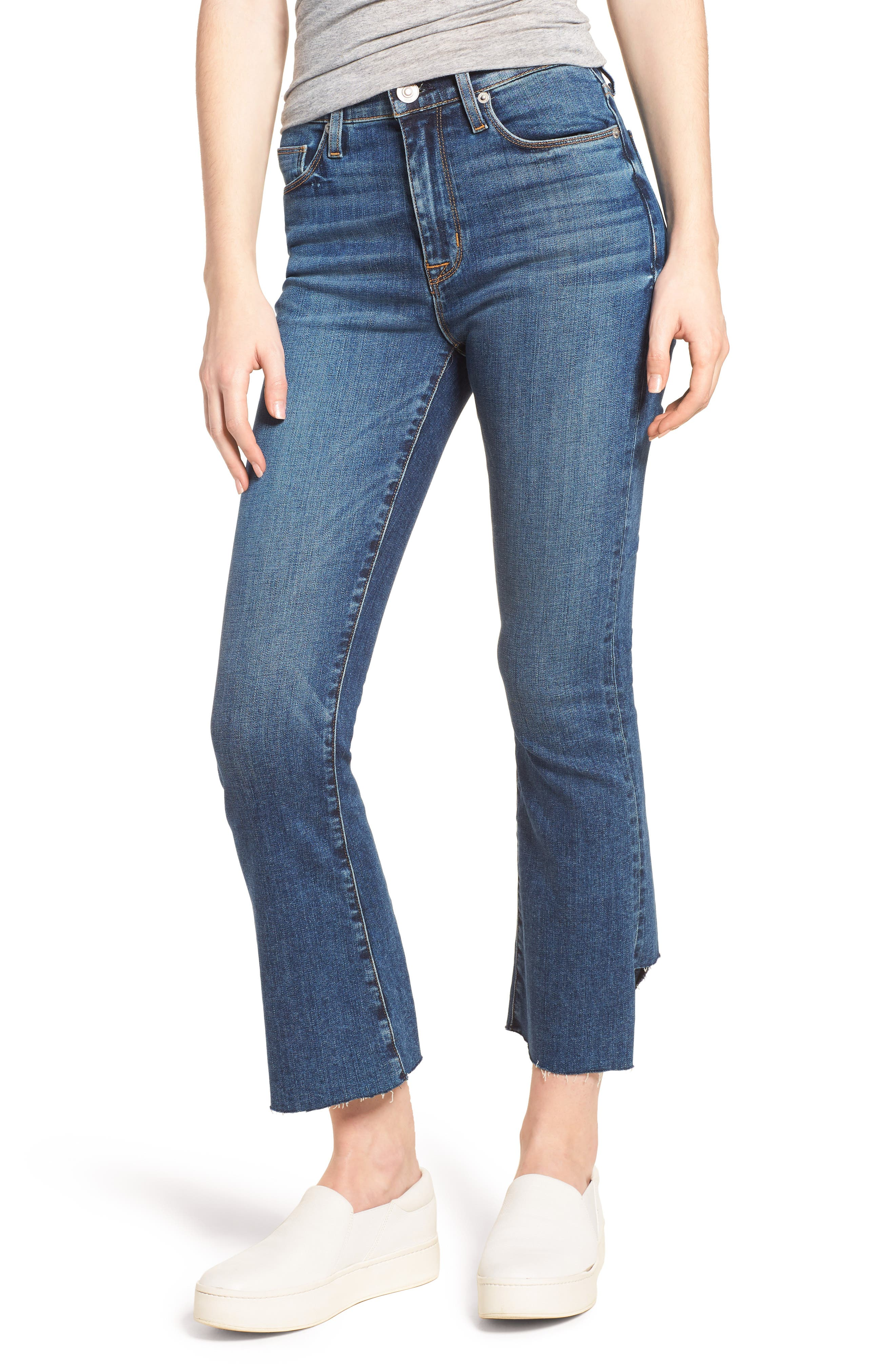 Holly High Waist Crop Flare Jeans,                             Main thumbnail 1, color,                             LOSS CONTROL