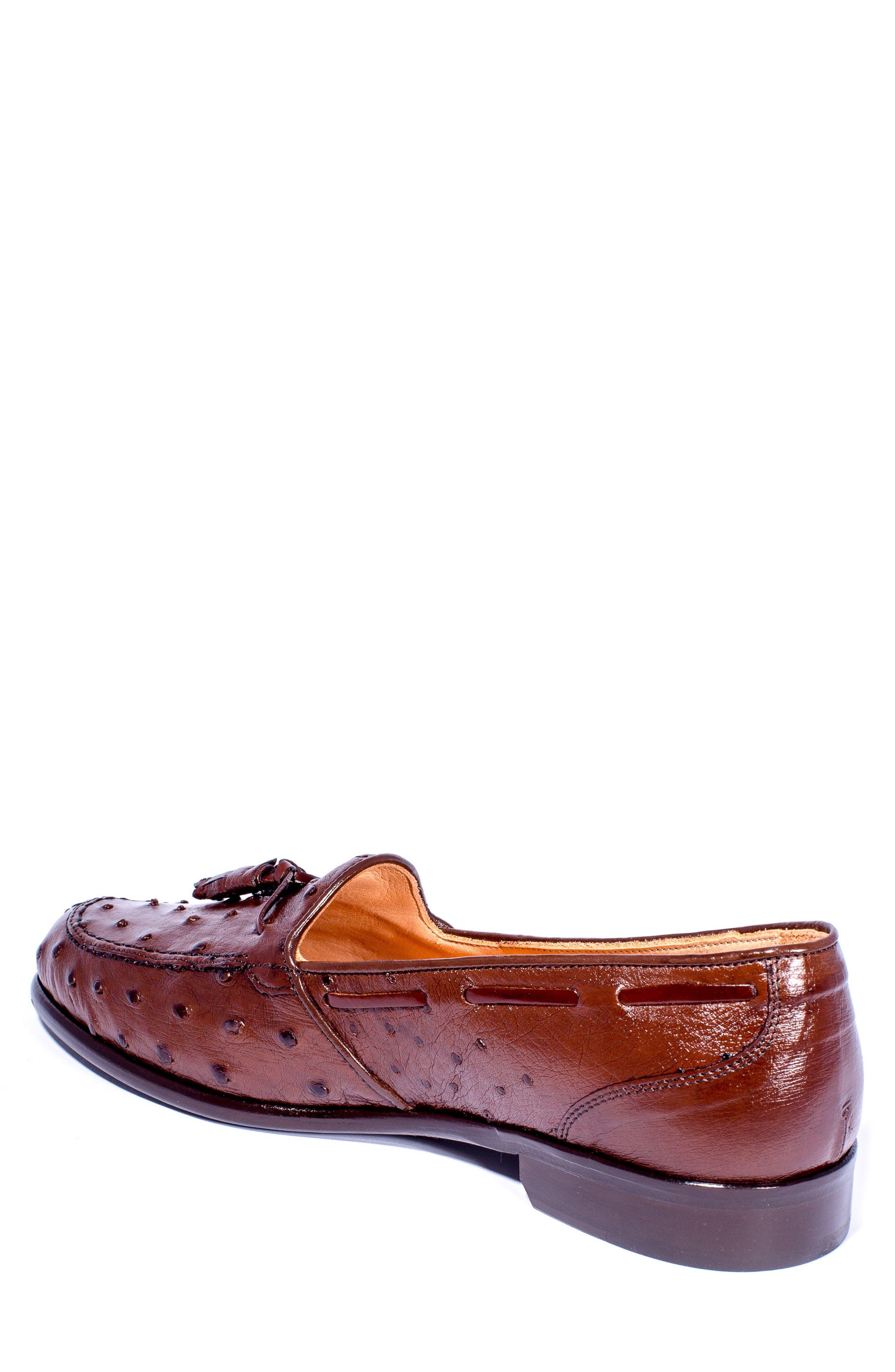 Franco Tassel Exotic Leather Loafer,                             Alternate thumbnail 4, color,