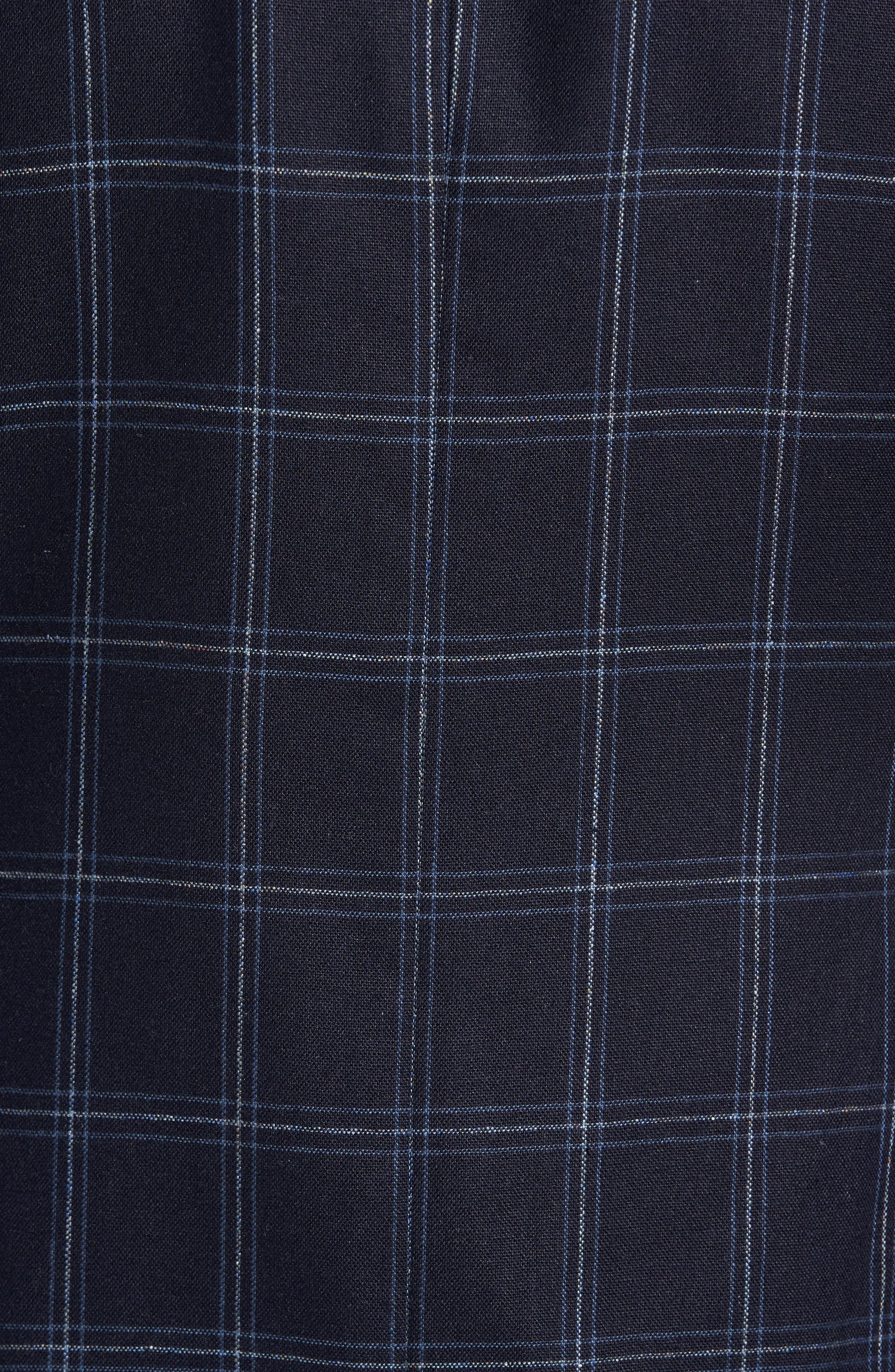 White Classic Fit Check Silk Sport Coat,                             Alternate thumbnail 5, color,                             410