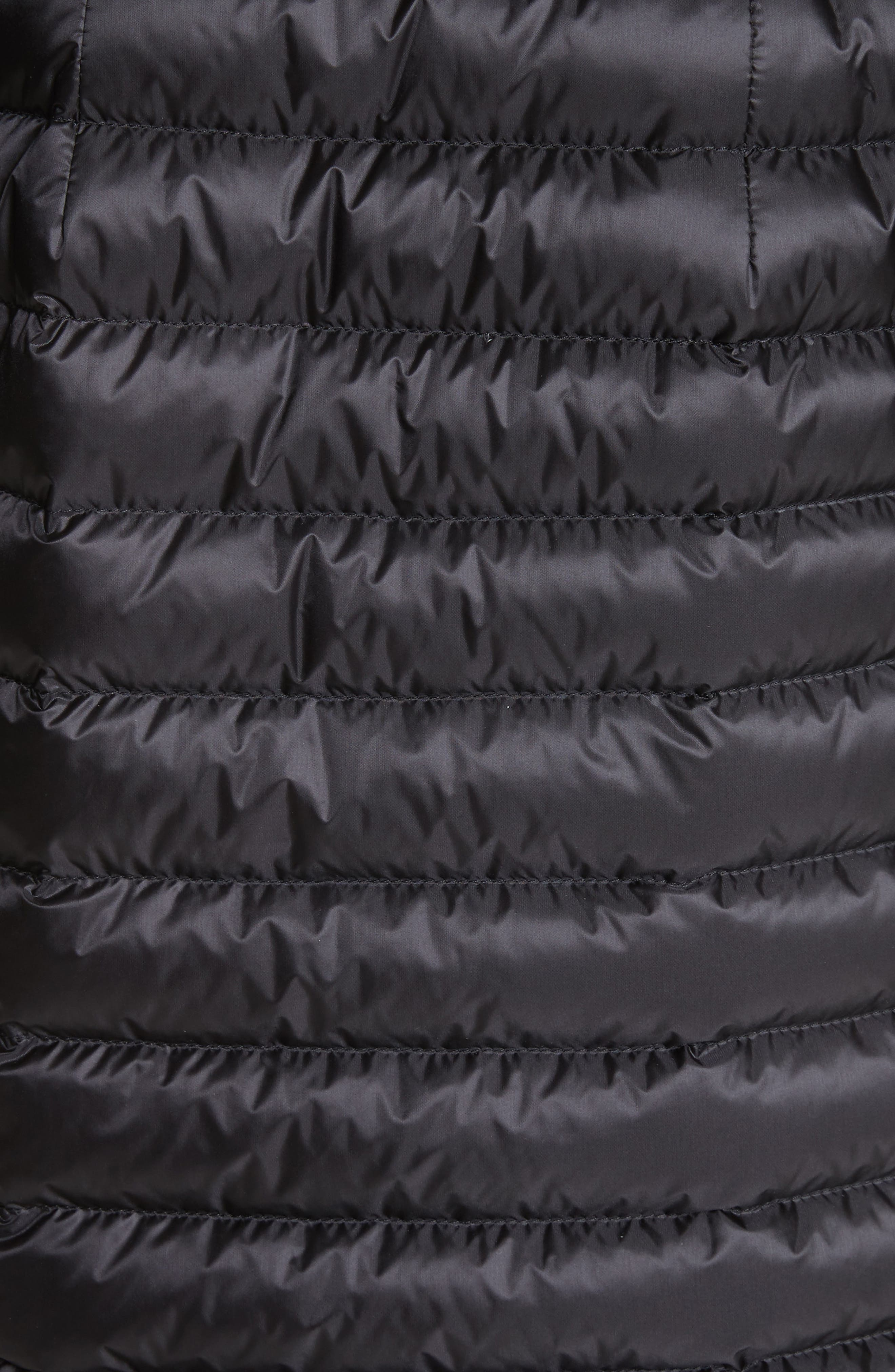 Barbel Hooded Down Coat with Genuine Mink Fur Trim,                             Alternate thumbnail 6, color,                             001