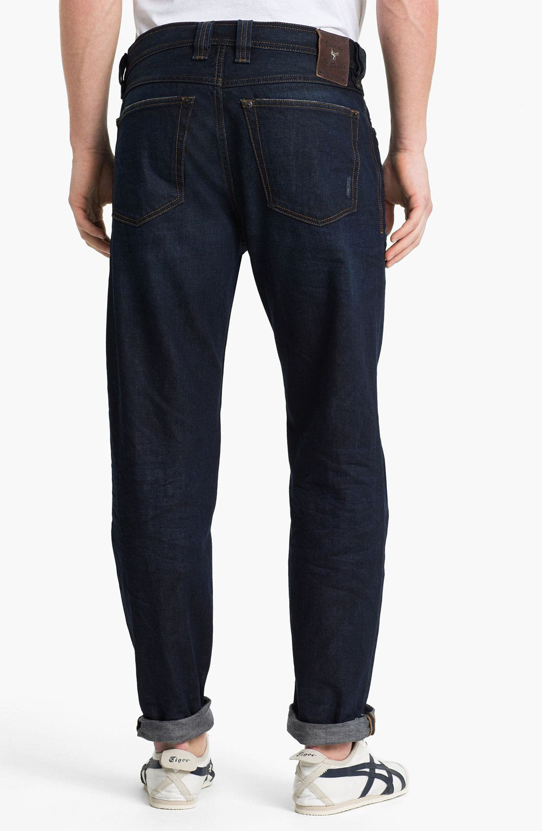 'Back in the Saddle' Relaxed Tapered Leg Jeans,                             Main thumbnail 1, color,                             400