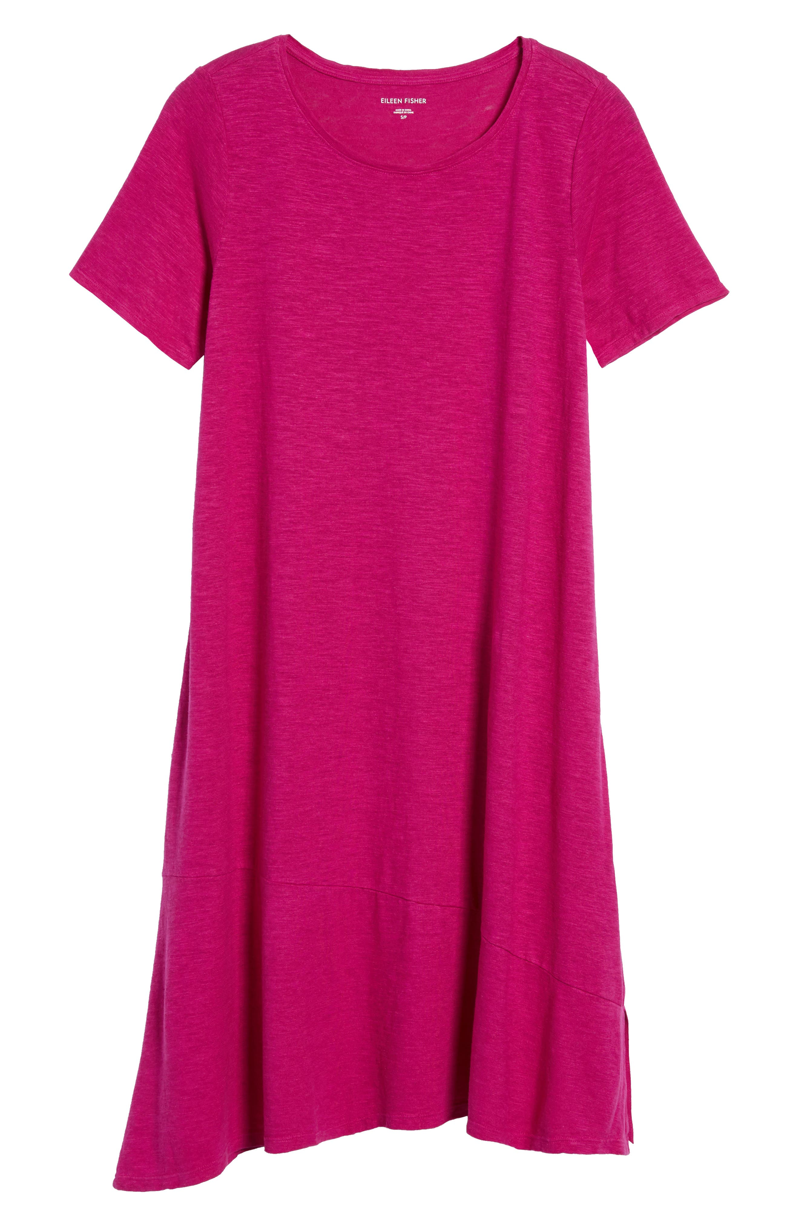 Asymmetrical Hemp Blend Shift Dress,                             Alternate thumbnail 19, color,