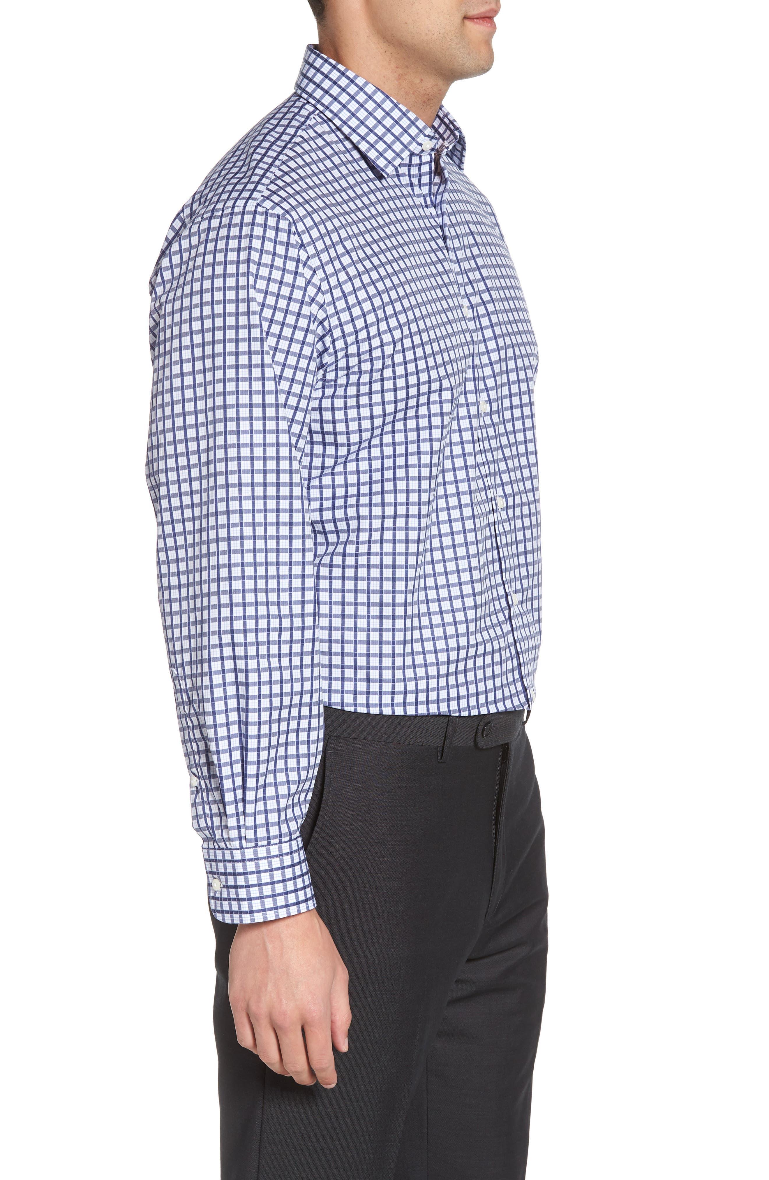Classic Fit Check Dress Shirt,                             Alternate thumbnail 4, color,                             410