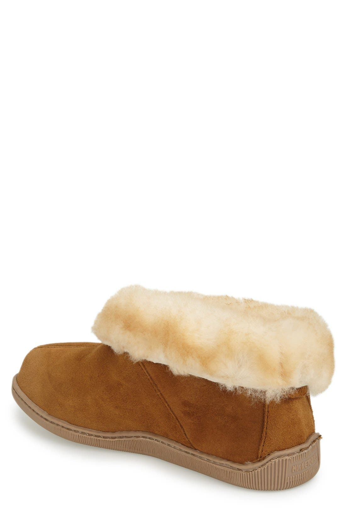 Genuine Shearling Lined Ankle Boot,                             Alternate thumbnail 2, color,                             GOLDEN TAN