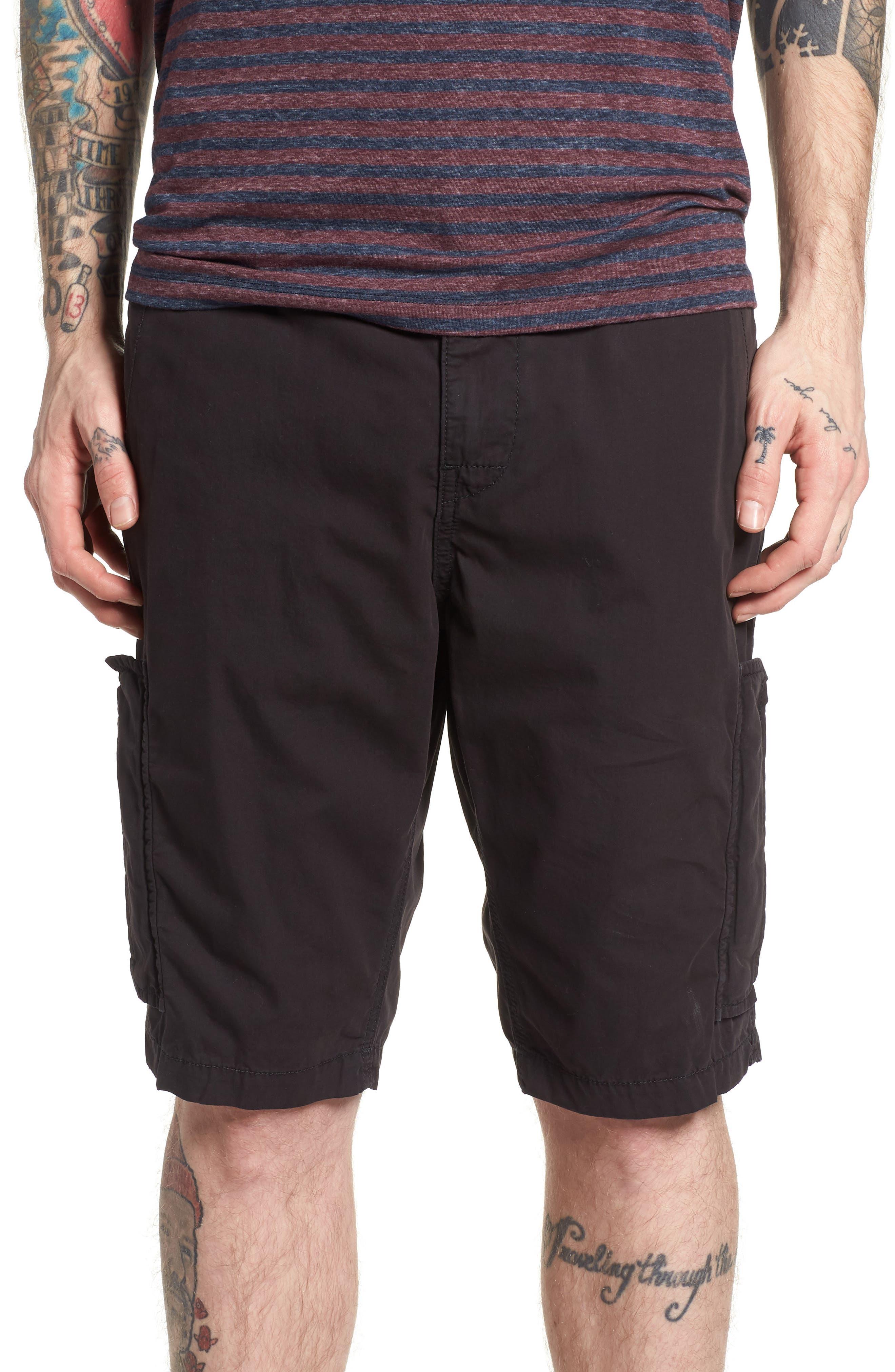 Officer Field Shorts,                         Main,                         color, BLACK