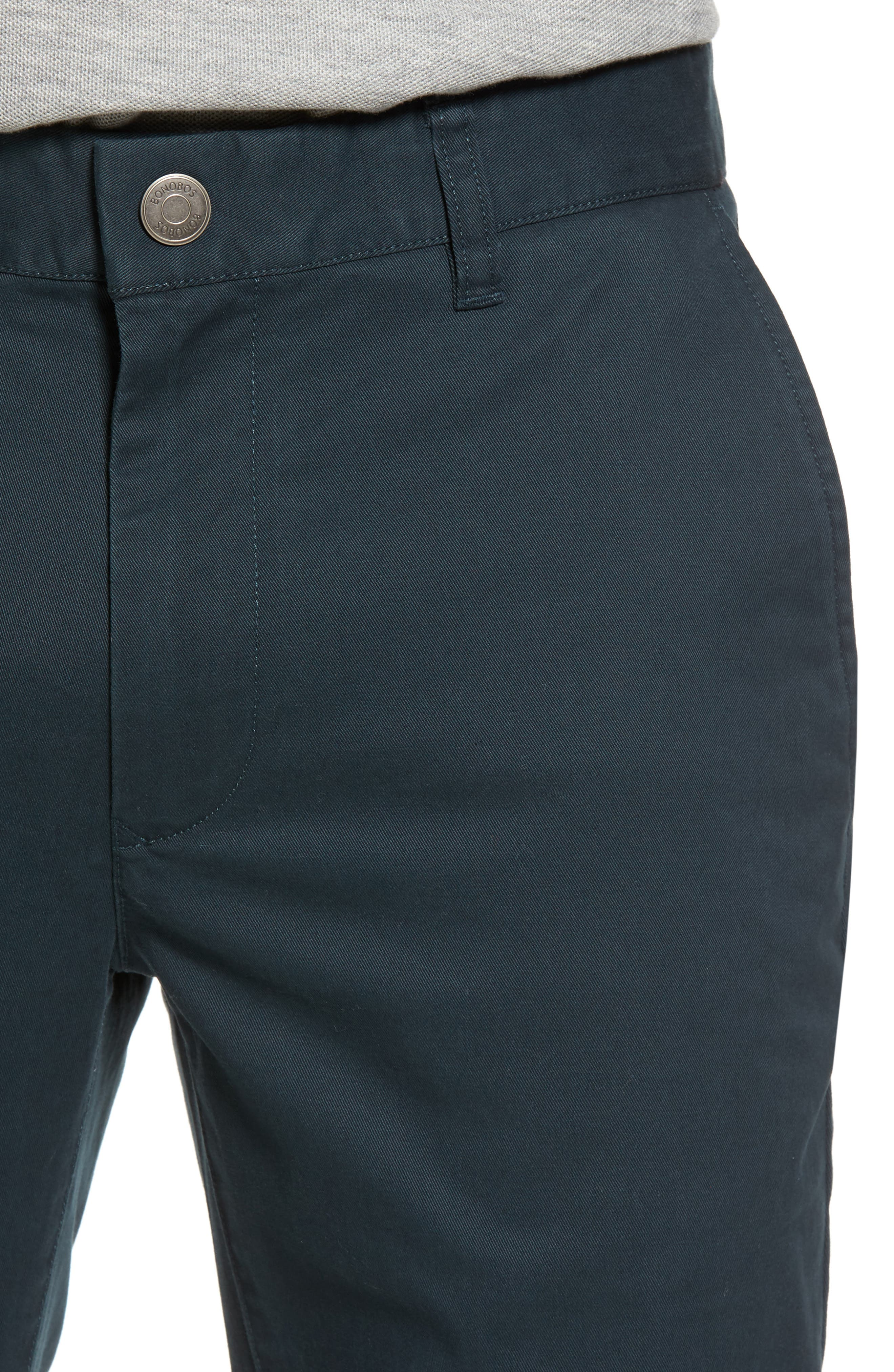 Tailored Fit Washed Stretch Cotton Chinos,                             Alternate thumbnail 122, color,