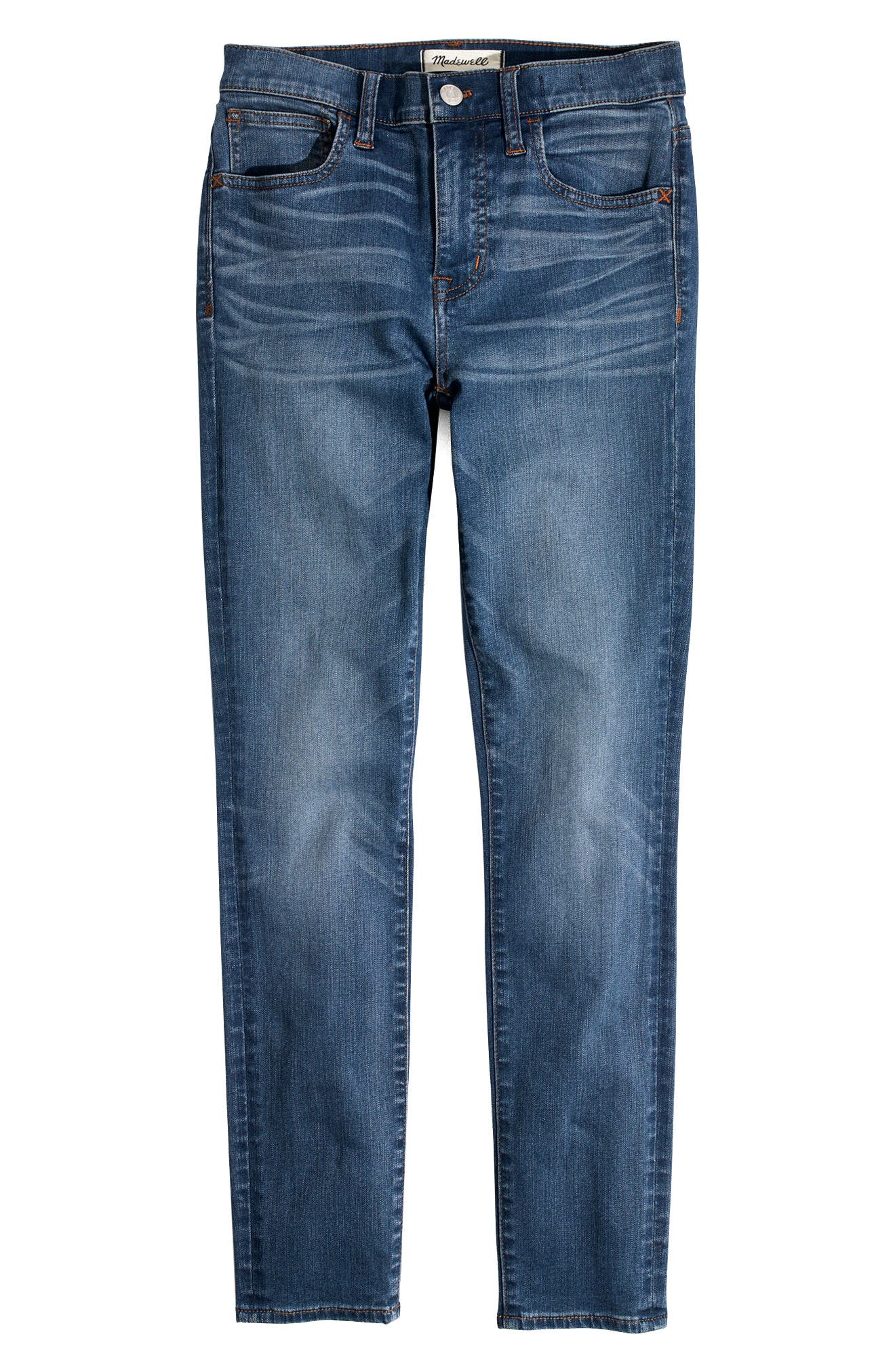 Roadtripper Crop Skinny Jeans,                             Alternate thumbnail 4, color,                             DECLAN WASH