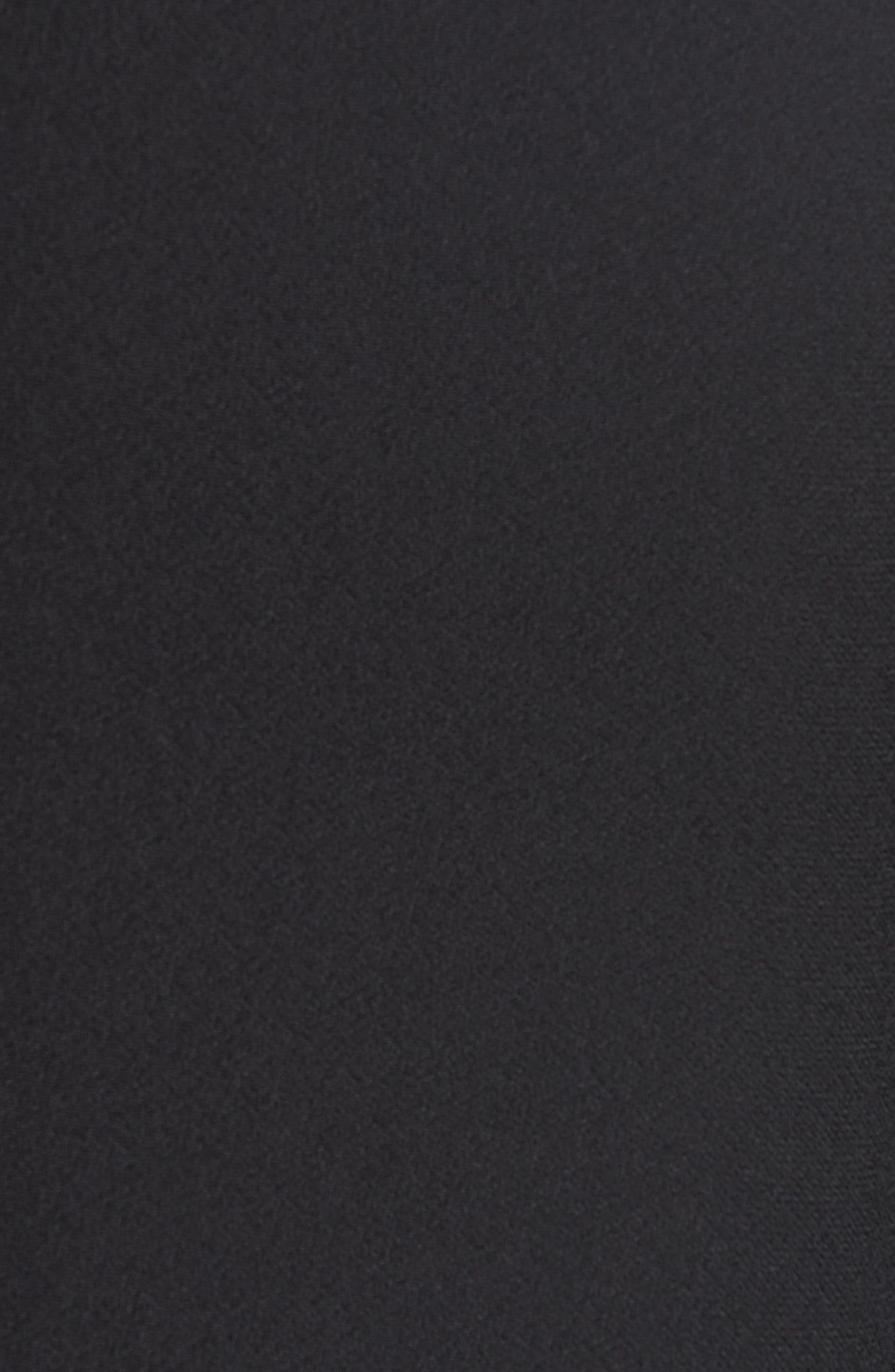 TED BAKER LONDON,                             Ashley Waterfall Sleeve A-Line Dress,                             Alternate thumbnail 5, color,                             001