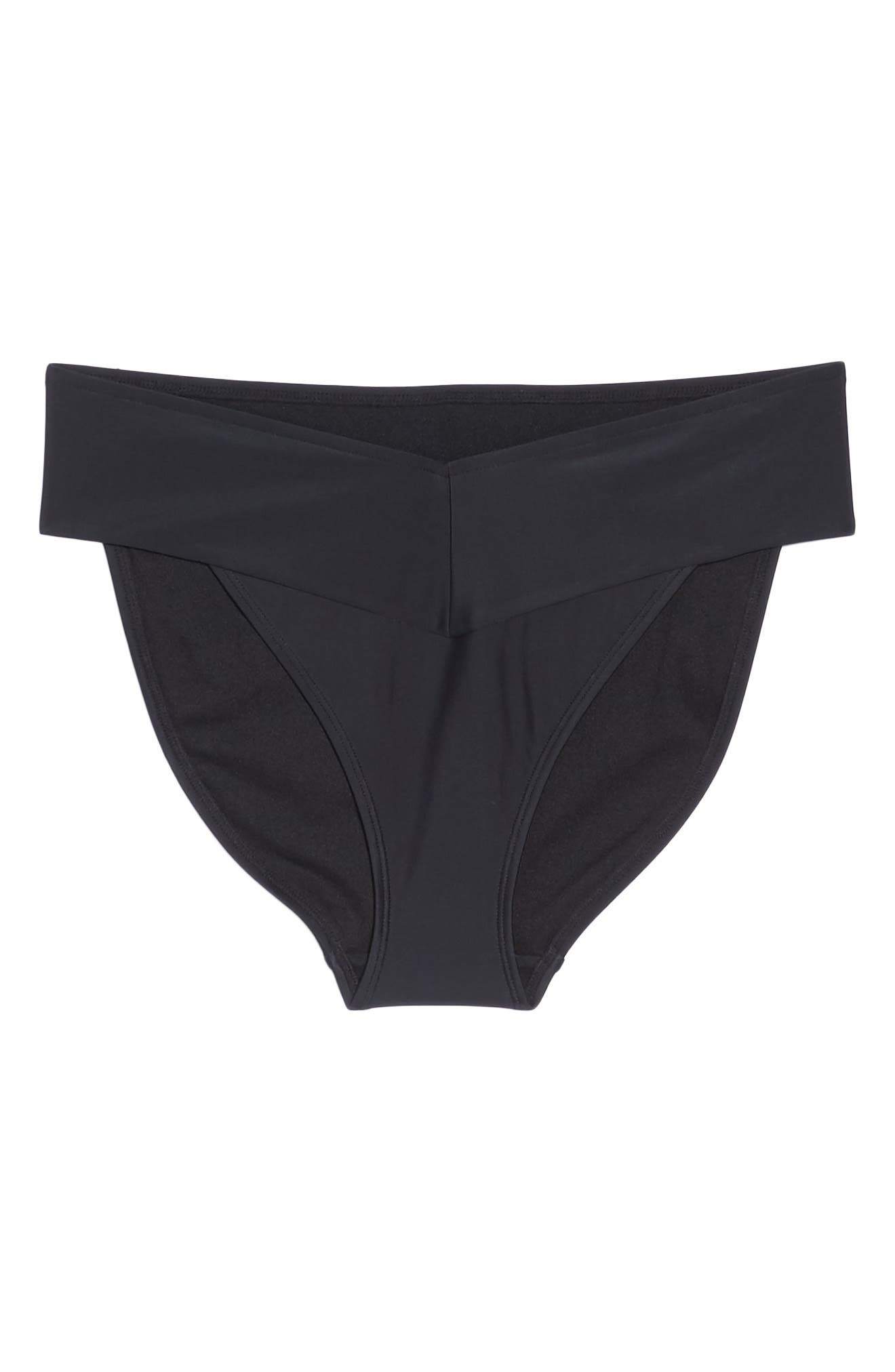 Ted Baker High Waisted Wrap Bikini Bottom,                             Alternate thumbnail 6, color,                             001