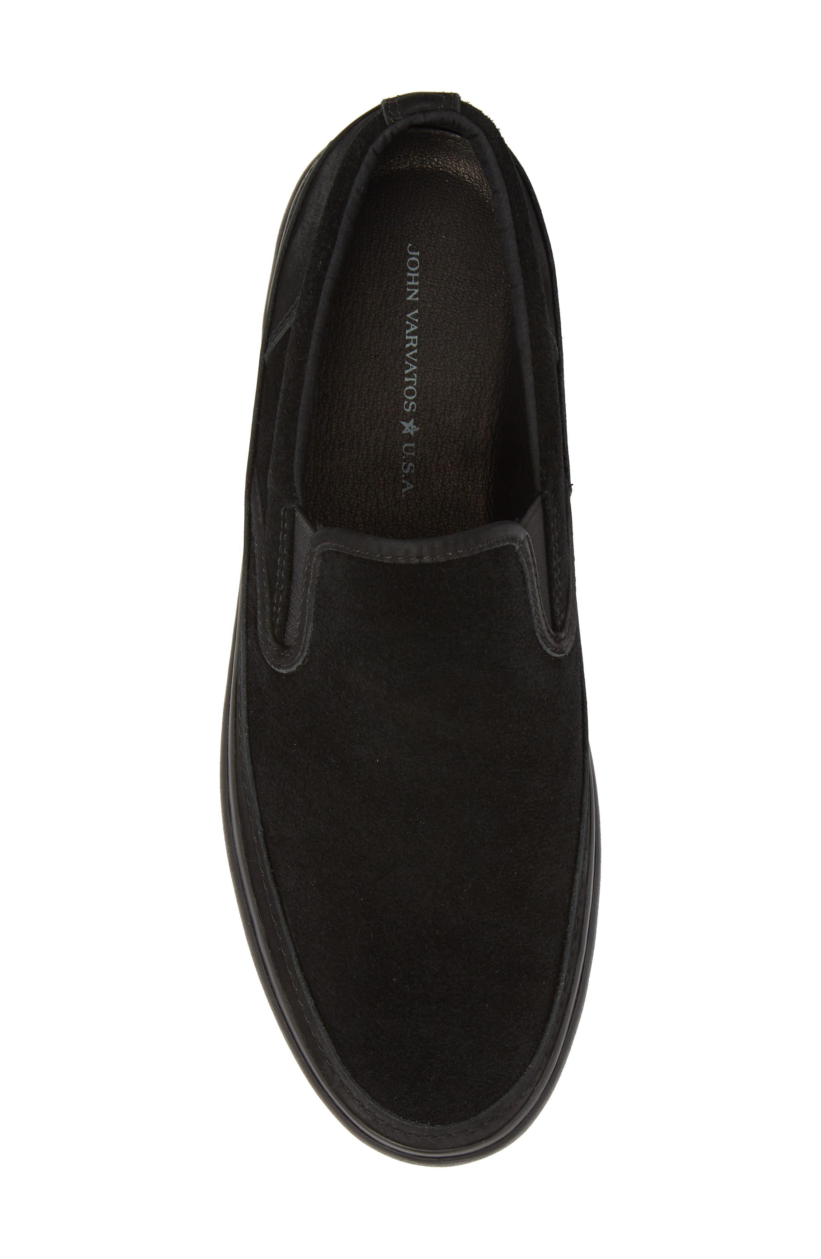 Suede Jet Slip-On Sneaker,                             Alternate thumbnail 5, color,                             BLACK SUEDE
