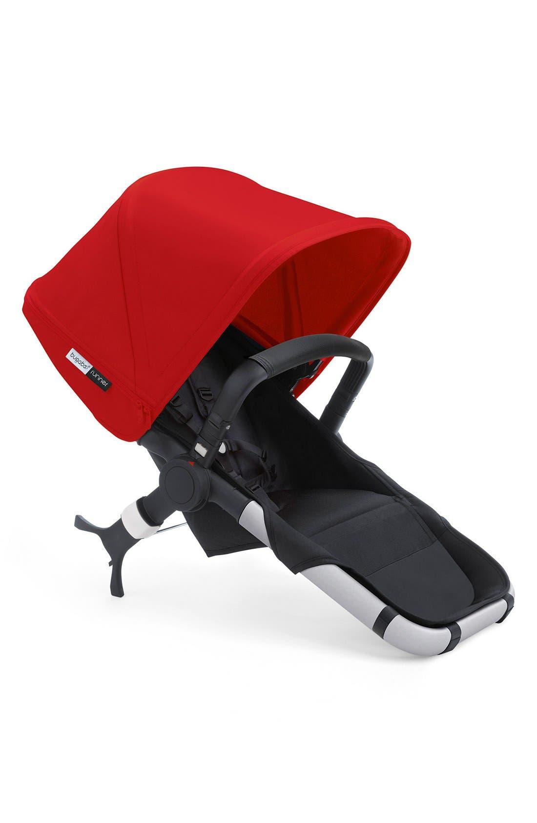 Runner Seat for Bugaboo Runner Stroller,                             Main thumbnail 1, color,                             BLACK/ RED