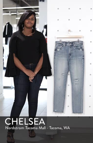 Distressed Rigid Straight Leg Jeans, sales video thumbnail
