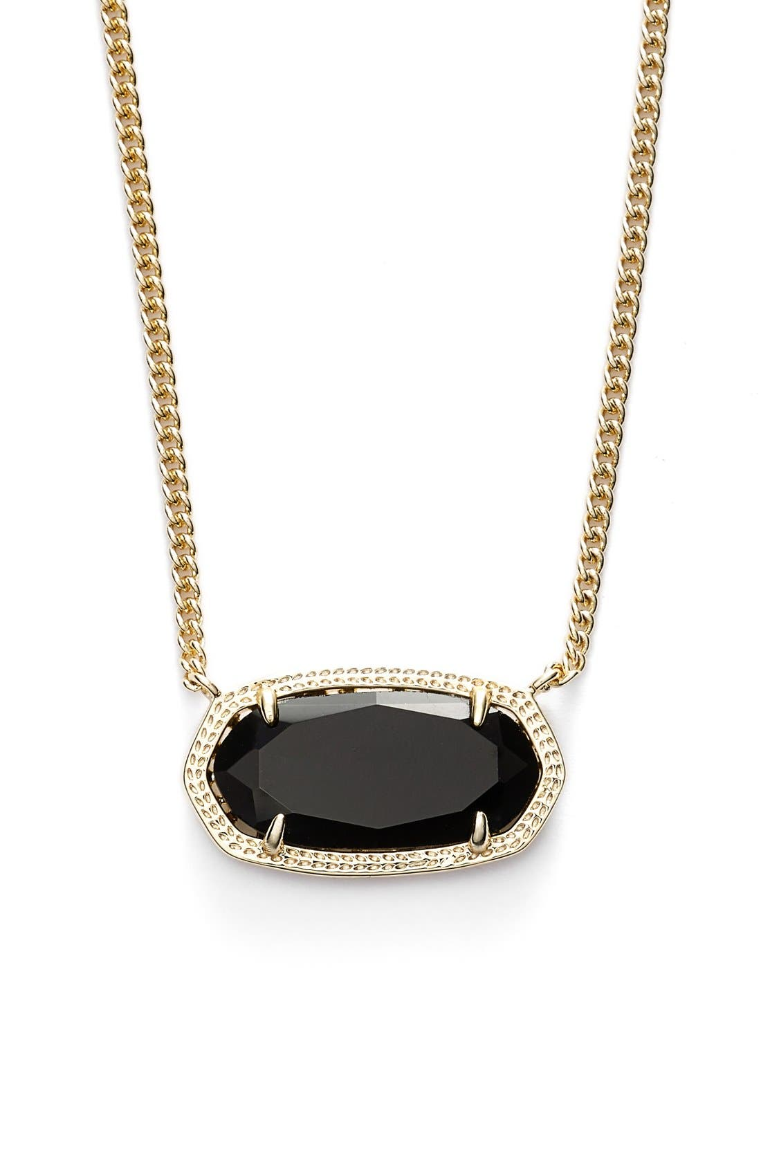 'Dylan' Stone Pendant Necklace, Main, color, 001