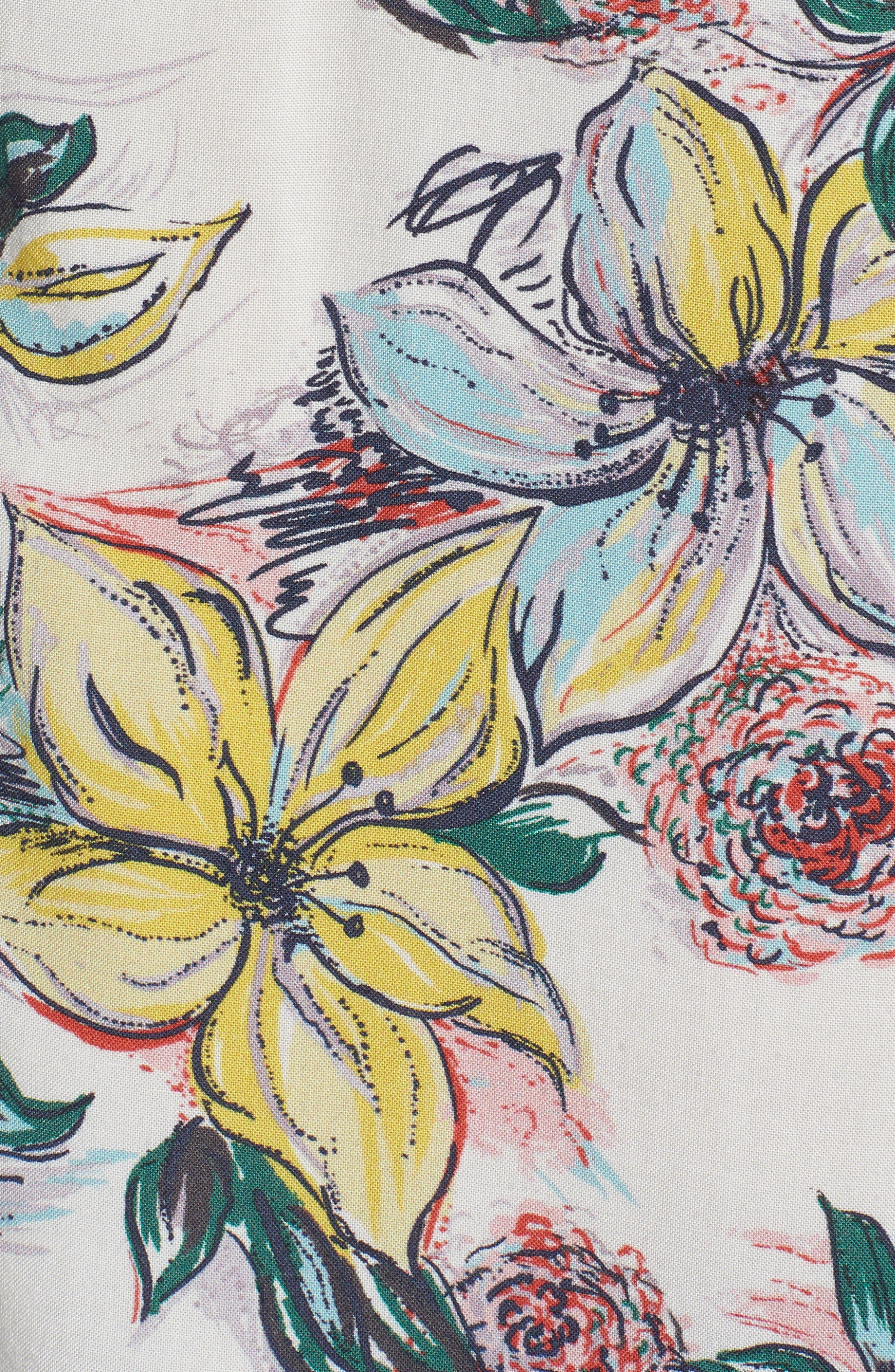 Hawaiian Print Sport Shirt,                             Alternate thumbnail 5, color,                             TROPICAL DREAMS HAWAIIAN