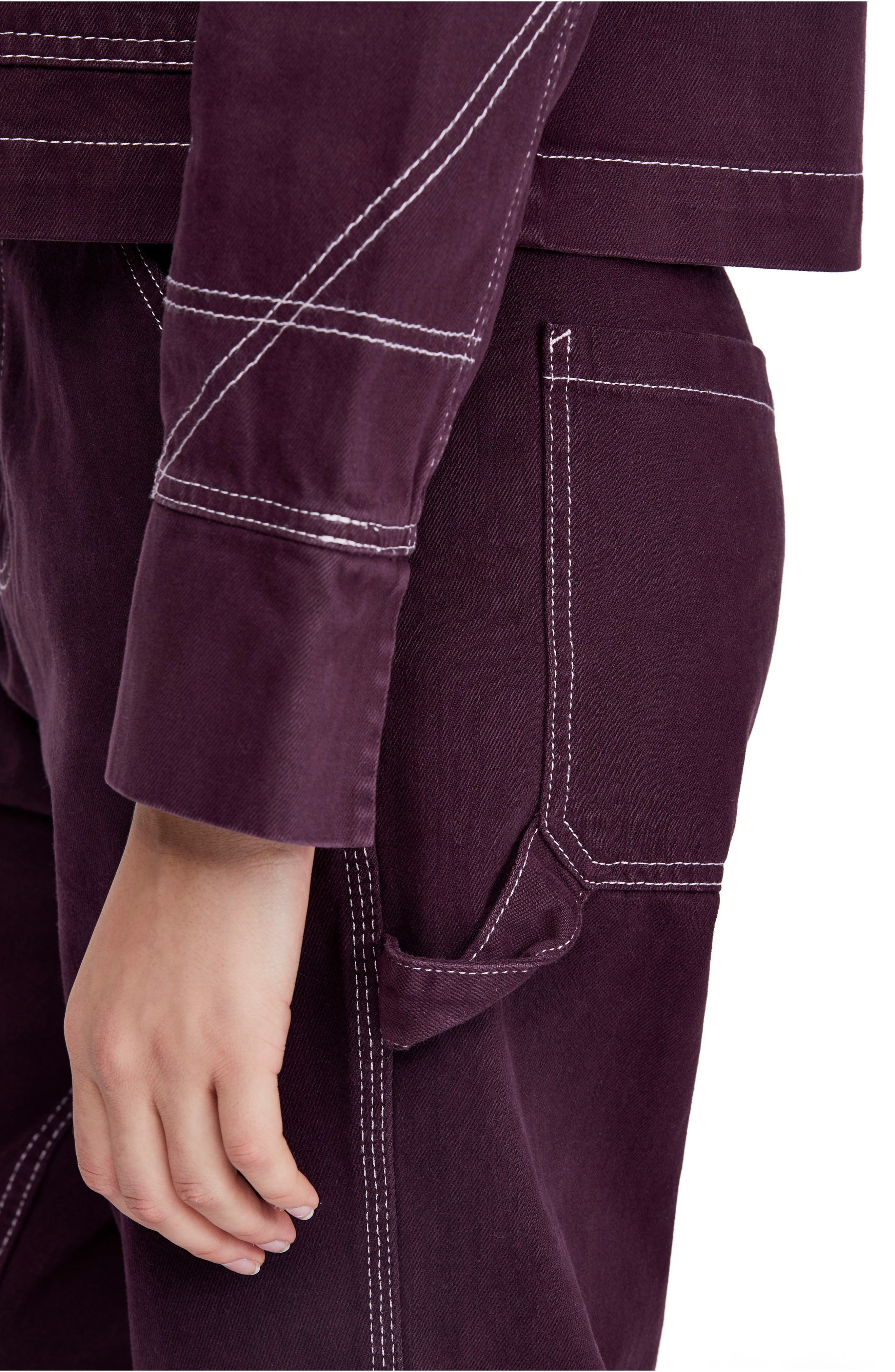 Urban Outfitters Workwear Pants,                             Alternate thumbnail 4, color,                             WINE