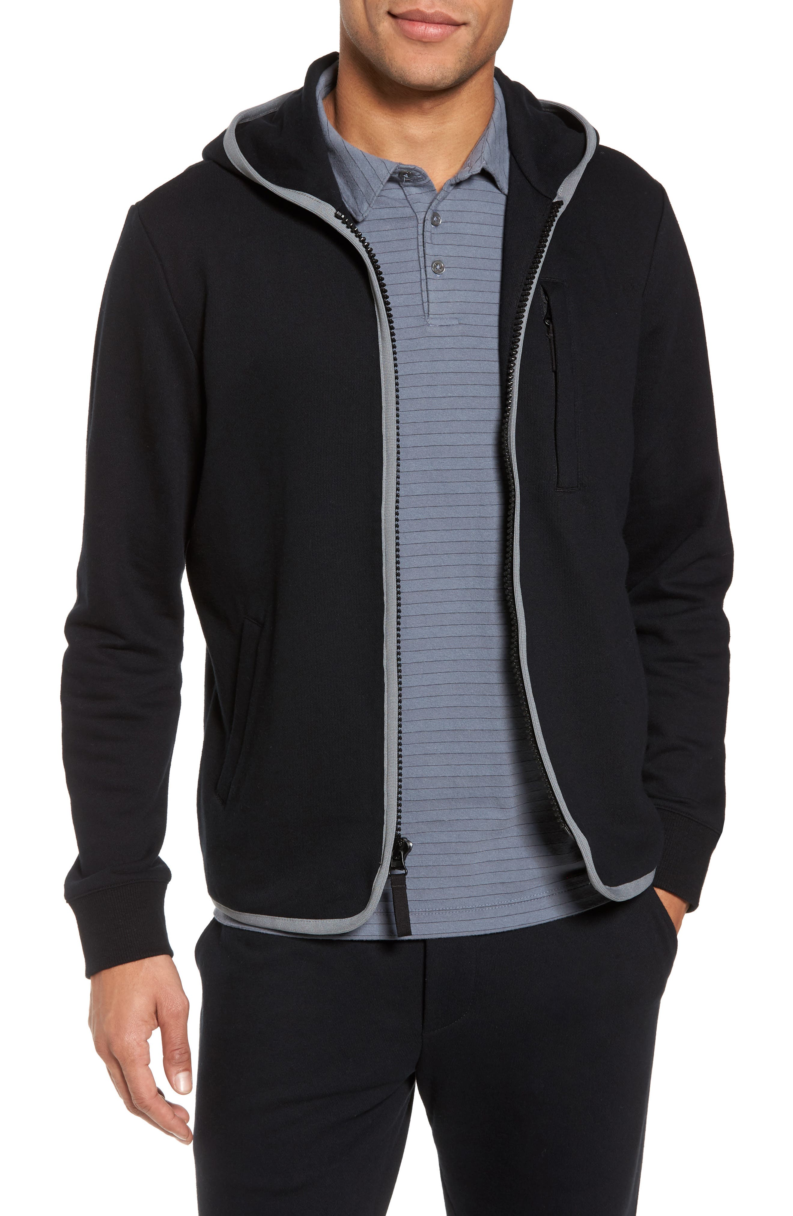 French Terry Zip Hoodie,                             Main thumbnail 1, color,                             015