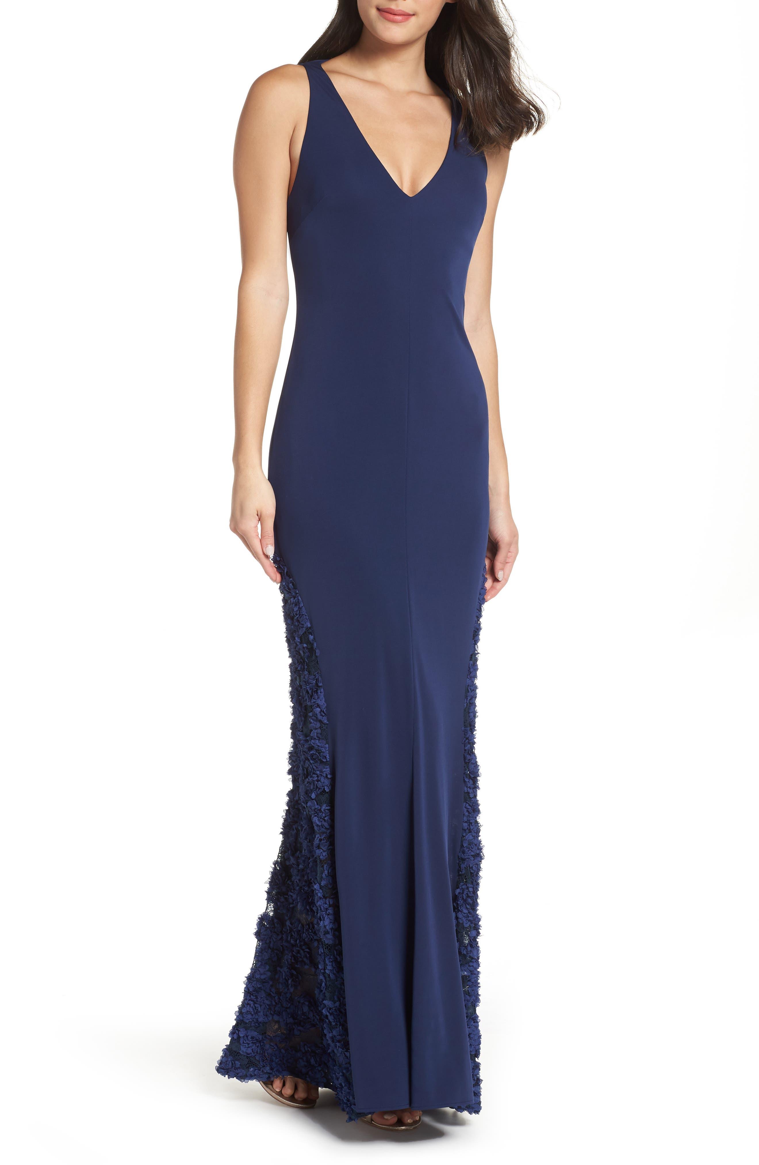 Maria Bianca Nero Emily Sleeveless Gown, Blue