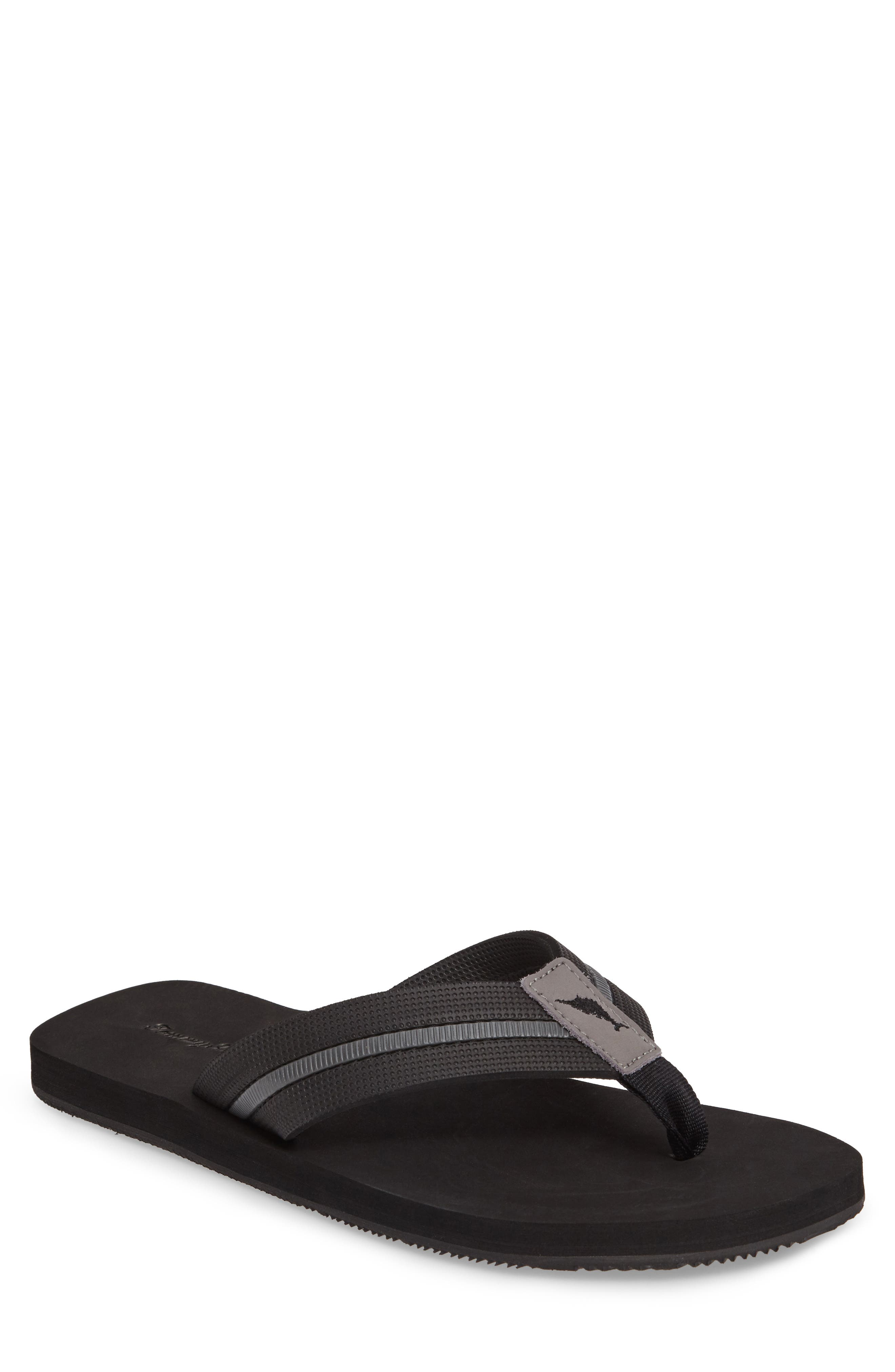 Taheeti Flip Flop,                             Main thumbnail 1, color,                             BLACK