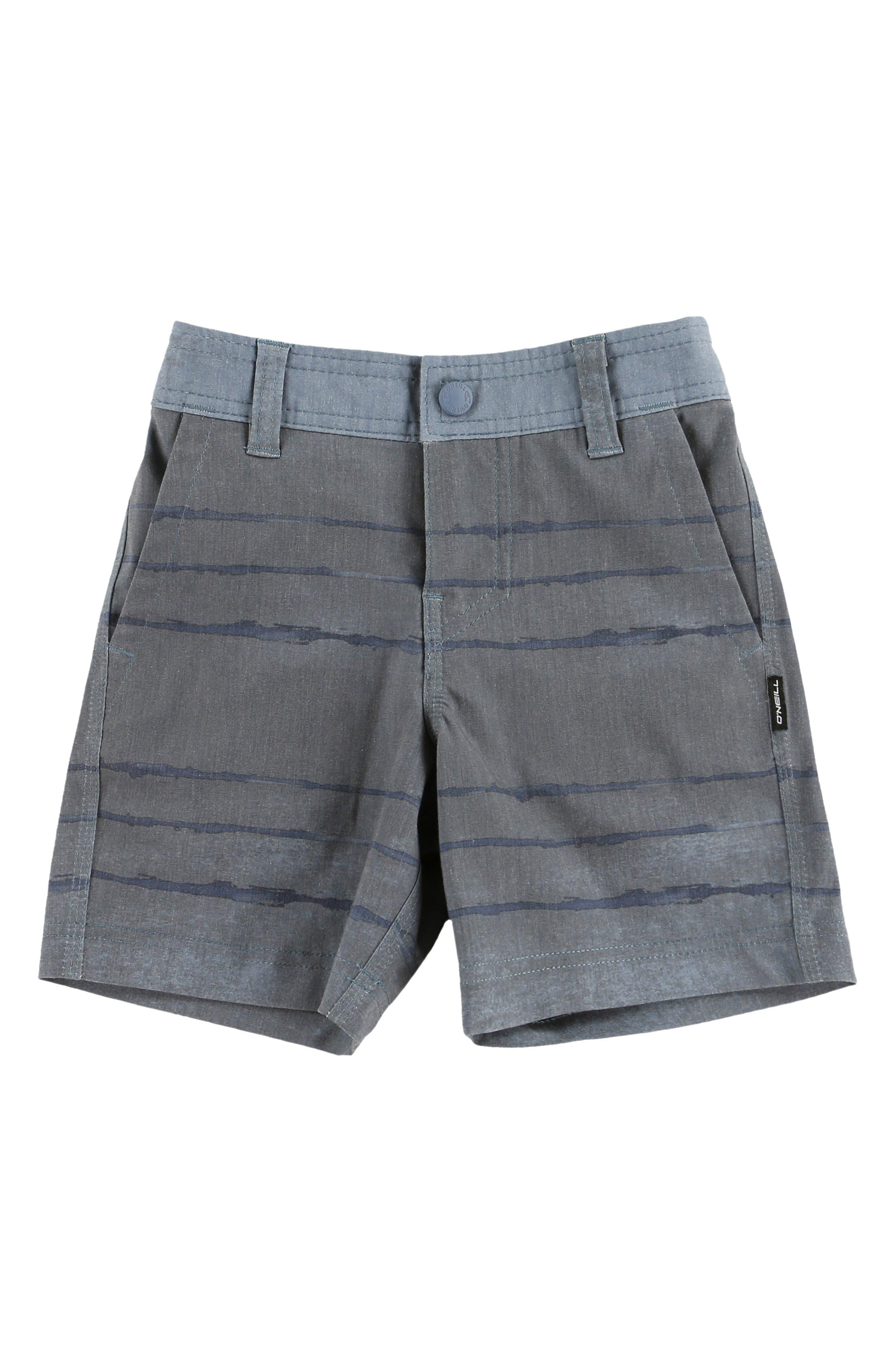 Tye Striper Hybrid Shorts,                             Main thumbnail 1, color,                             DUST BLUE