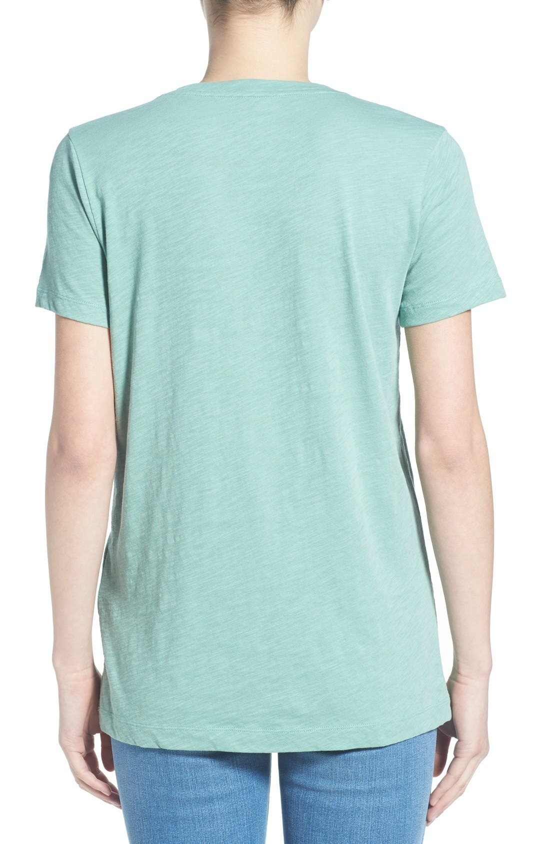 Whisper Cotton V-Neck Pocket Tee,                             Alternate thumbnail 61, color,