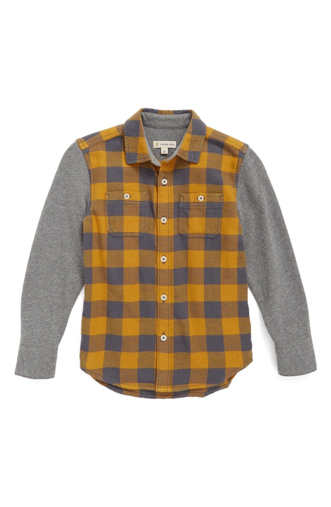 Woven Plaid Shirt,                             Main thumbnail 1, color,                             701
