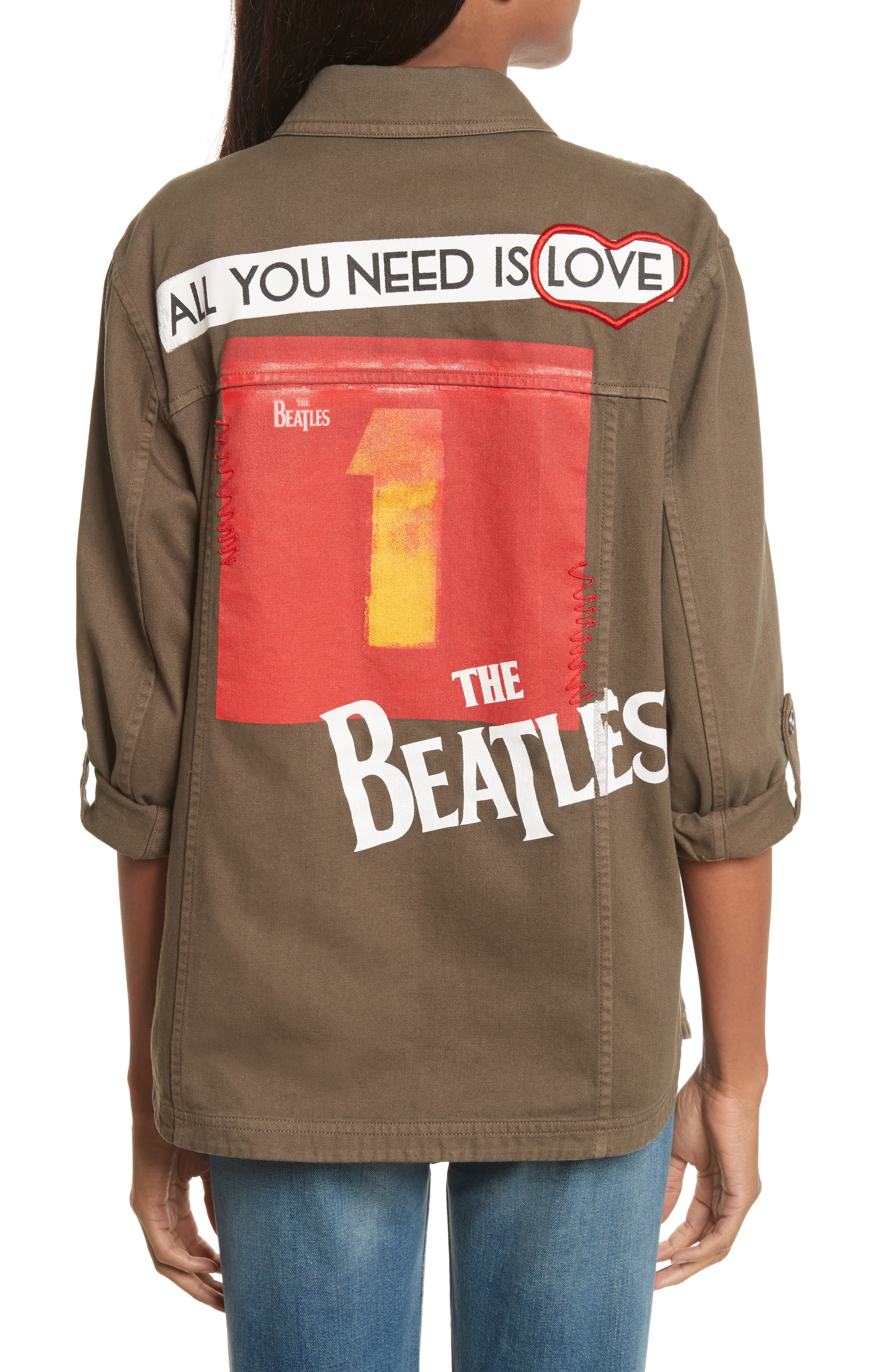 AO x The Beatles Charline Oversize Patch Military Jacket,                             Alternate thumbnail 2, color,                             315