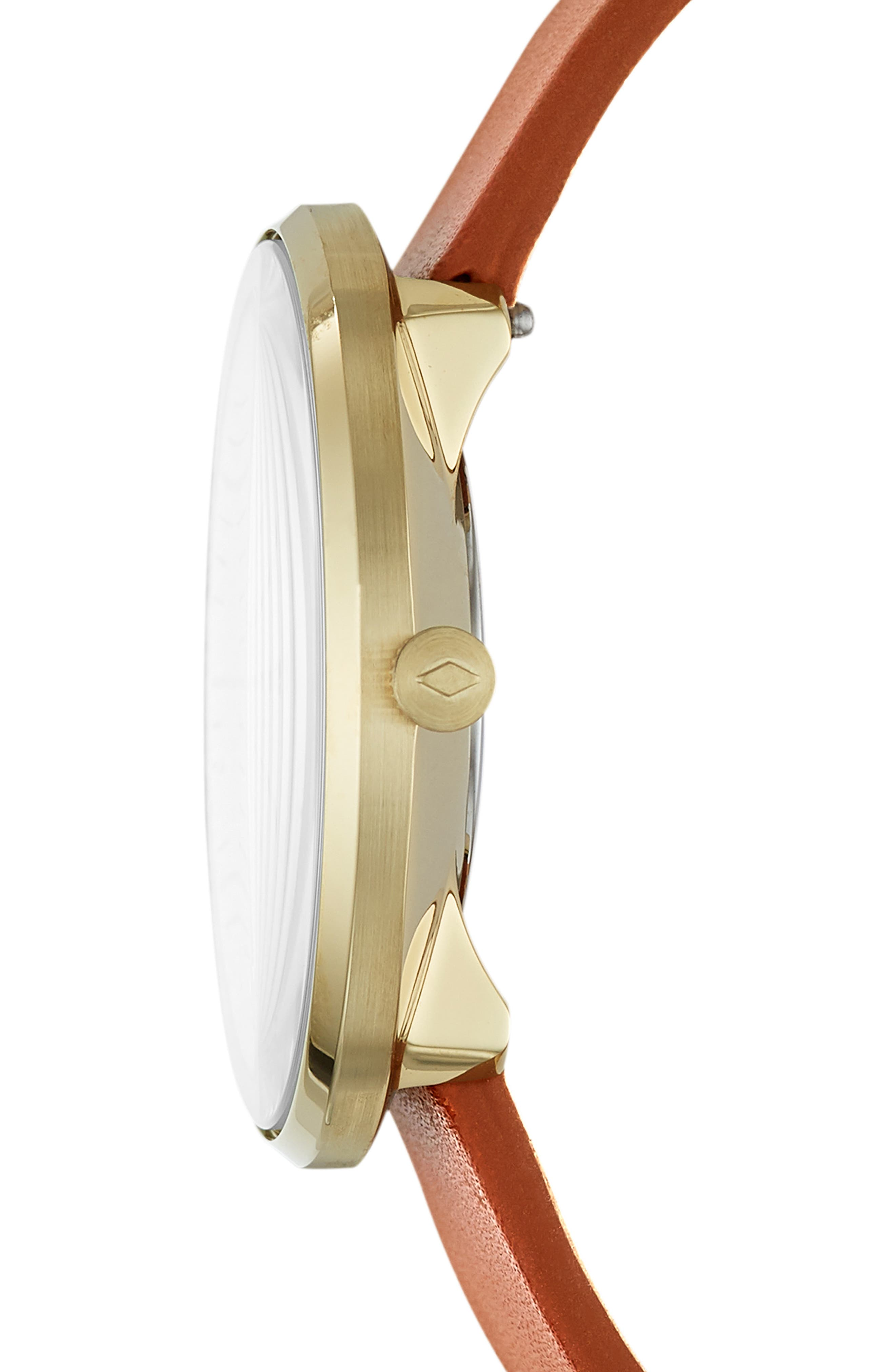 Essentialist Leather Strap Watch, 38mm,                             Alternate thumbnail 2, color,                             200